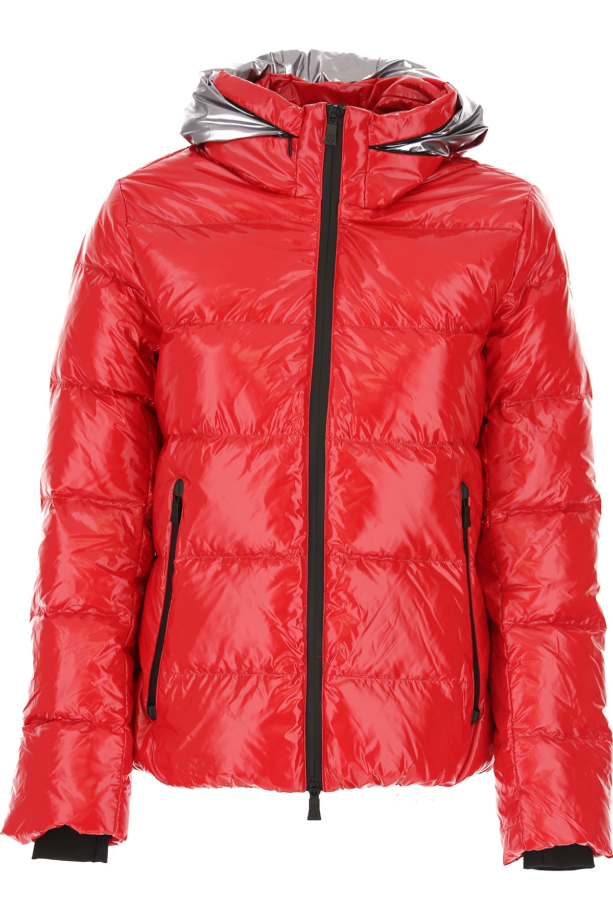People of Shibuya Down Jacket for Women, Puffer Ski Jacket On Sale, Flame Red, polyamide, 2019, 4 6 8