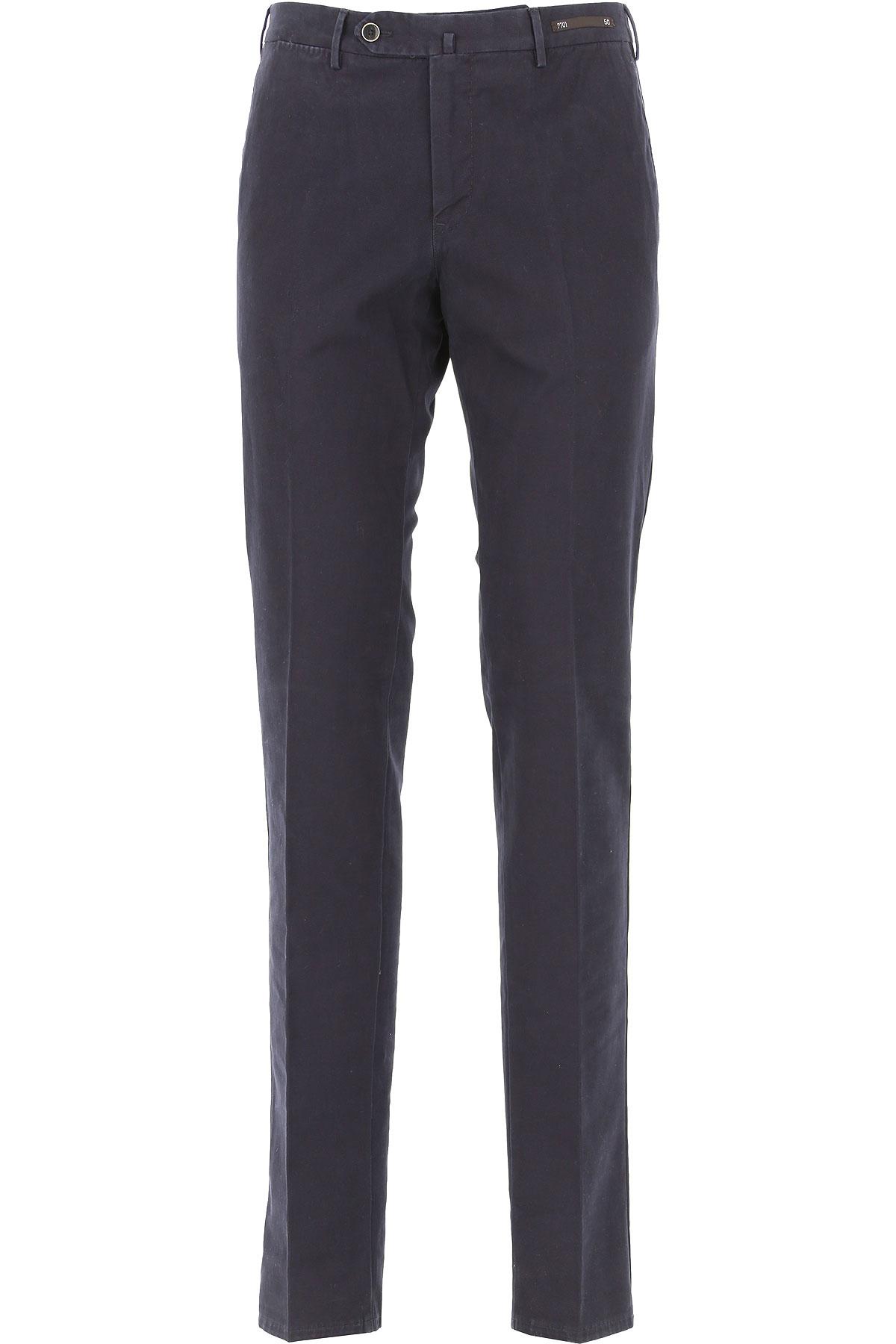 PT01 Pants for Men On Sale, navy, Cotton, 2019, 30 32 34 36 38 40 42