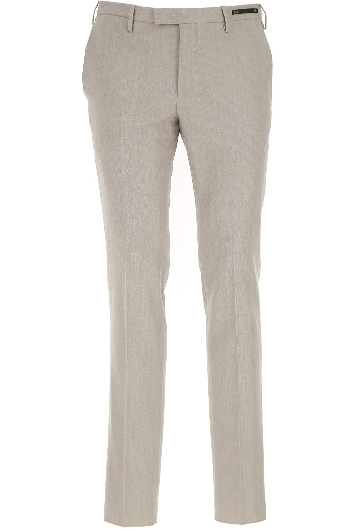 Image of PT01 Pants for Men, Beige, Virgin wool, 2017, 30 31 32 33 34