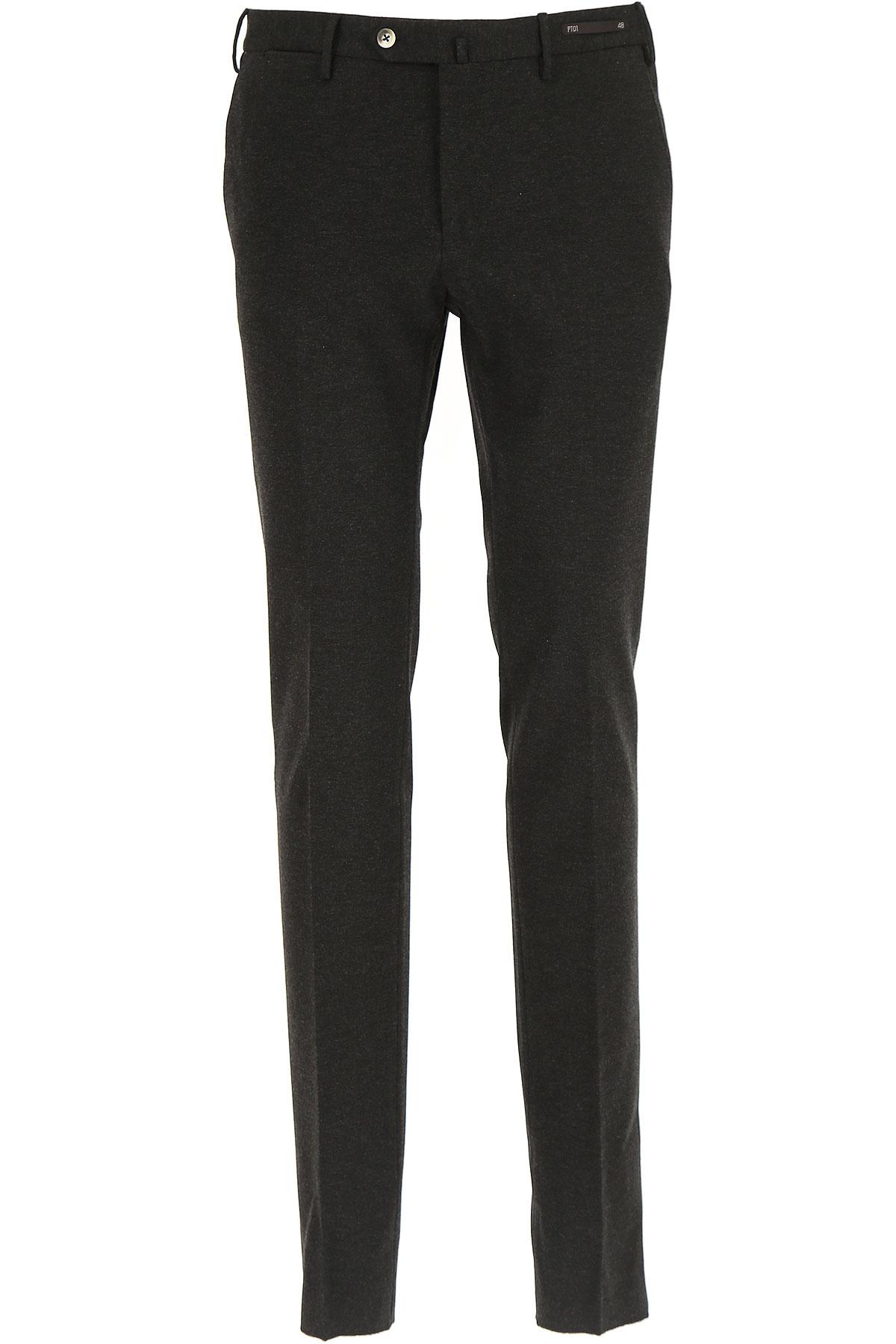 Image of PT01 Pants for Men, Anthracite Grey, Viscose, 2017, 28 30 32 34 36