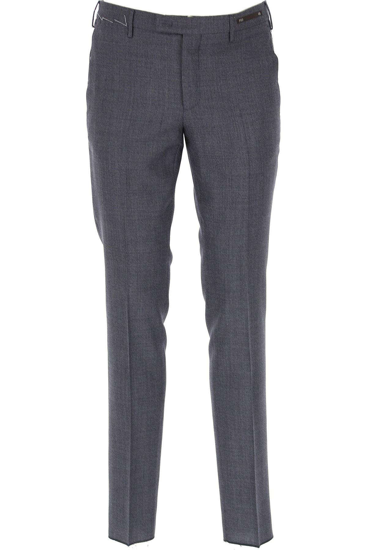 PT01 Pants for Men On Sale, Blue, Virgin wool, 2019, 30 34
