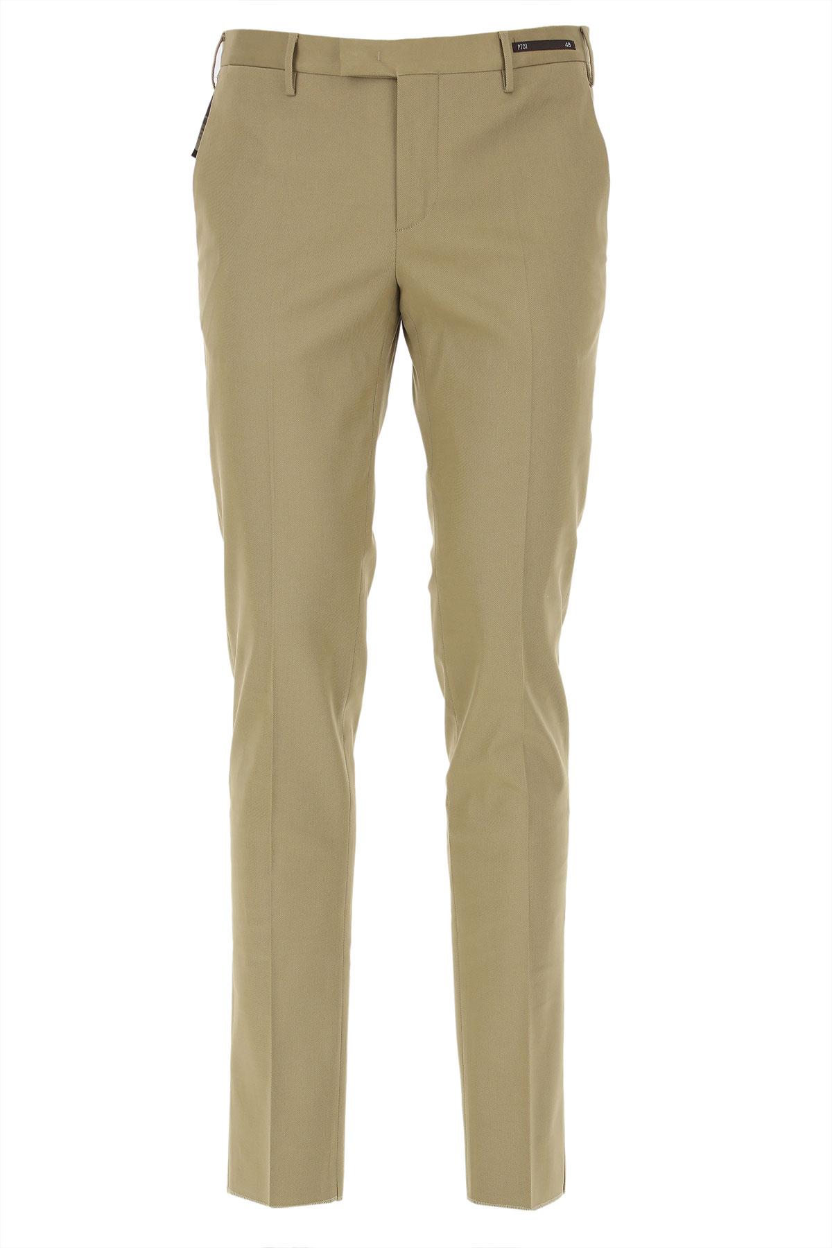 PT01 Pants for Men On Sale, Kaki, lyocell, 2019, 30 32 34 36 38