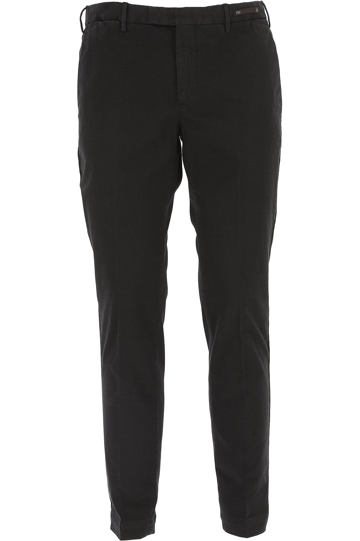 PT01 Pants for Men, Black, Cotton, 2019, 34 38