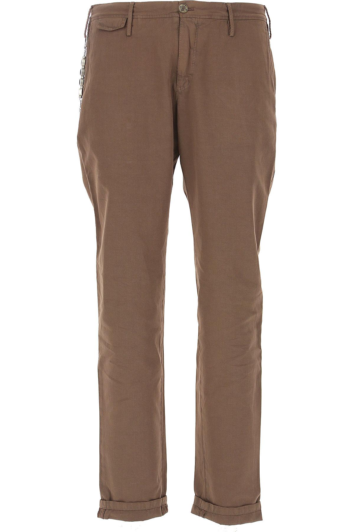 PT01 Pants for Men, Dove Brown, Cotton, 2019, 31 32 33 34