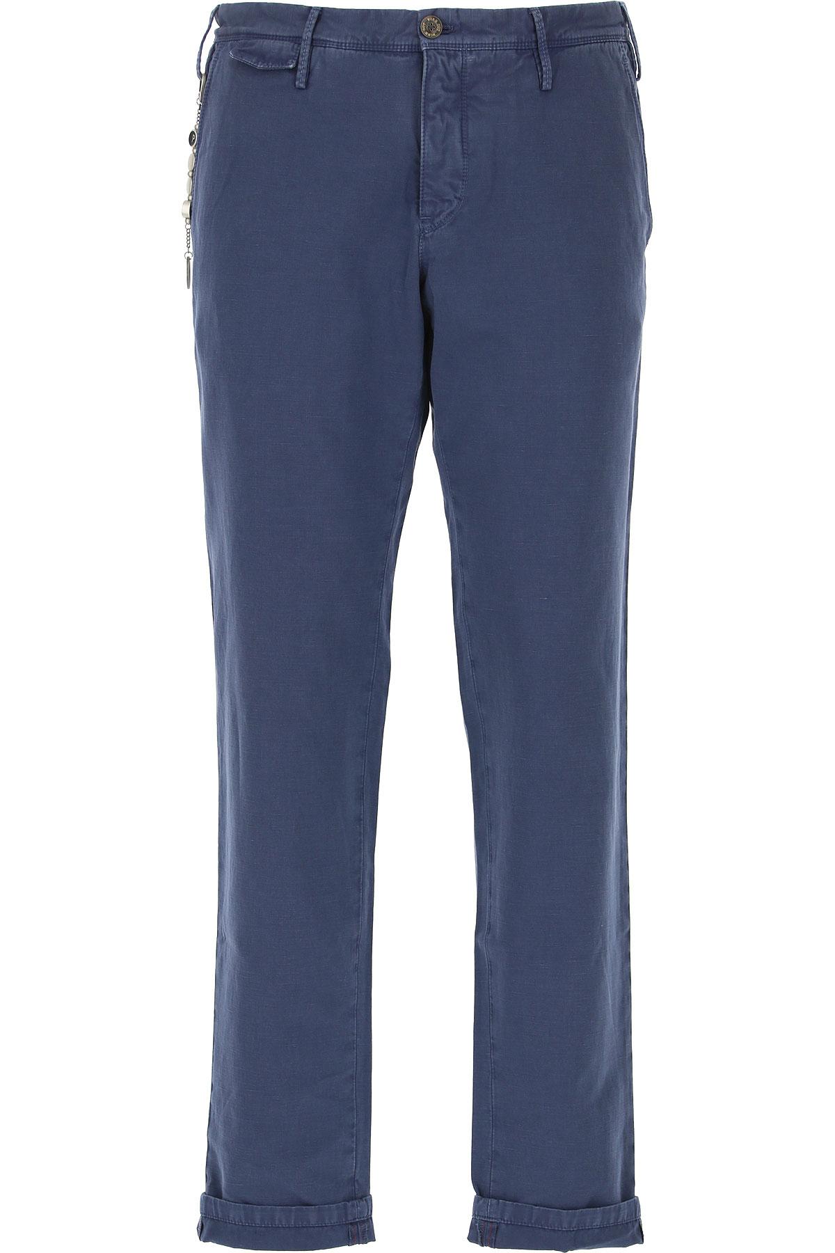 PT01 Pants for Men, Bluette, Cotton, 2019, 31 32 33