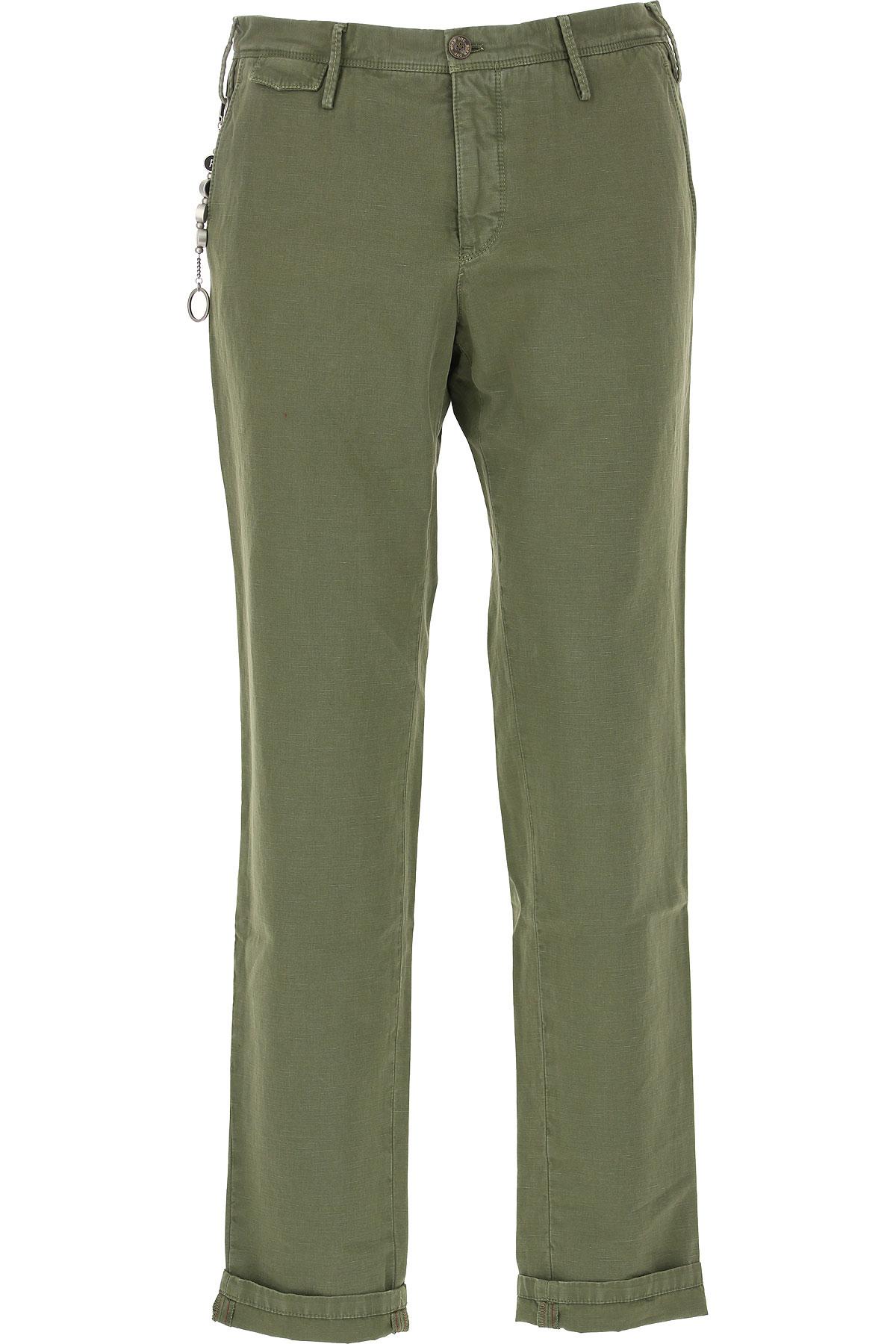 PT01 Pantalon Homme Pas cher en Soldes, Vert militaire, Coton, 2019, 47 48 49 50