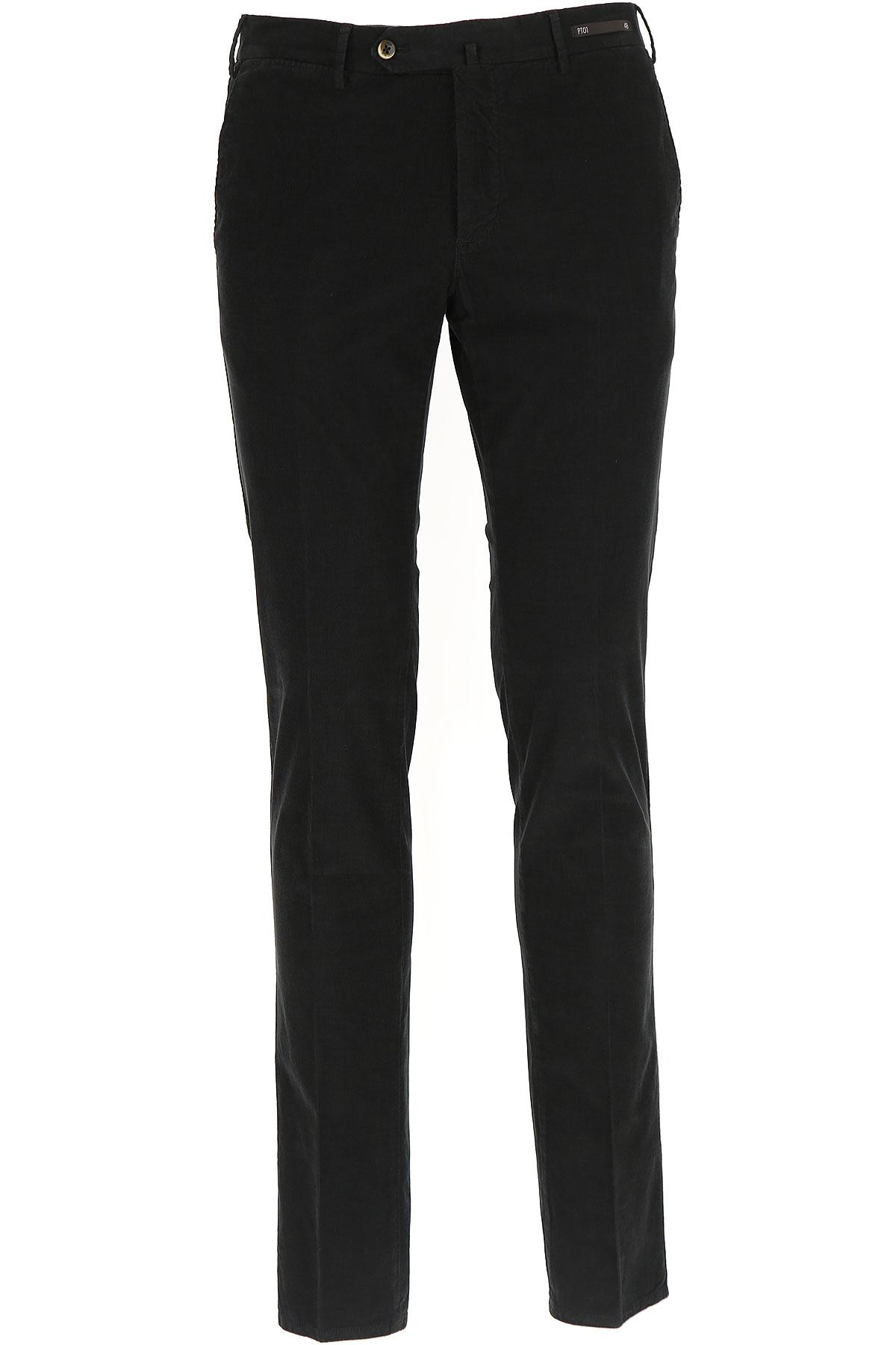 Image of PT01 Pants for Men, Black, Cotton, 2017, 28 30 32 34 36
