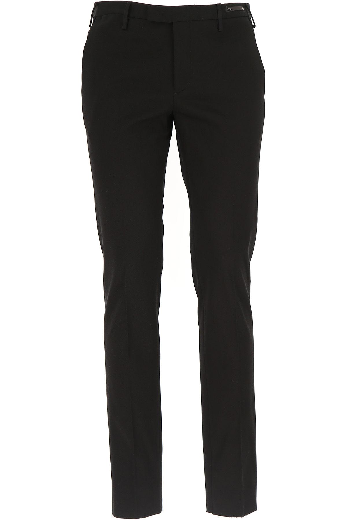 Image of PT01 Pants for Men, Black, Cotton, 2017, 30 31 32 33