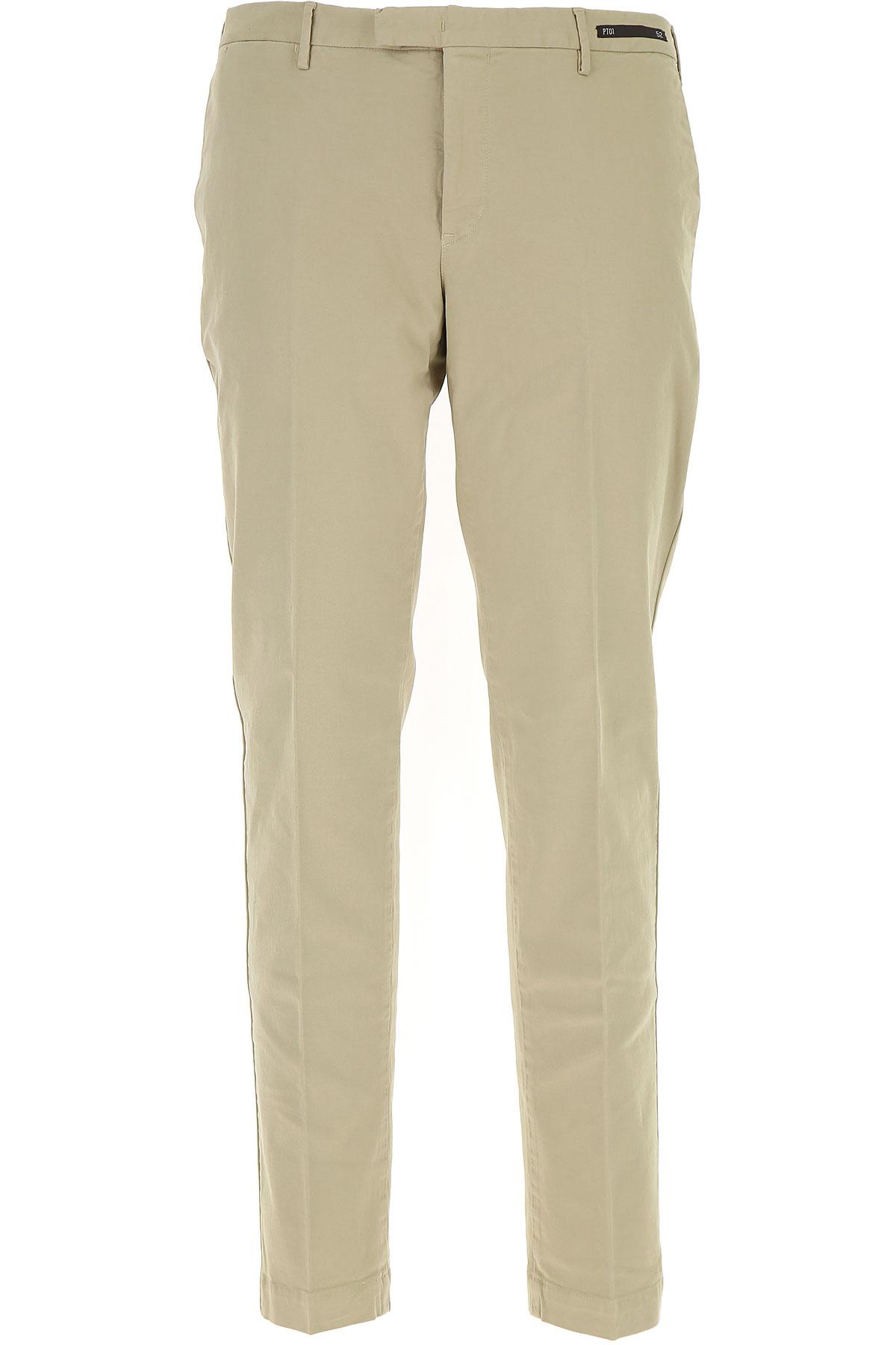Image of PT01 Pants for Men, Beige, Cotton, 2017, 30 31 32 33 34 36