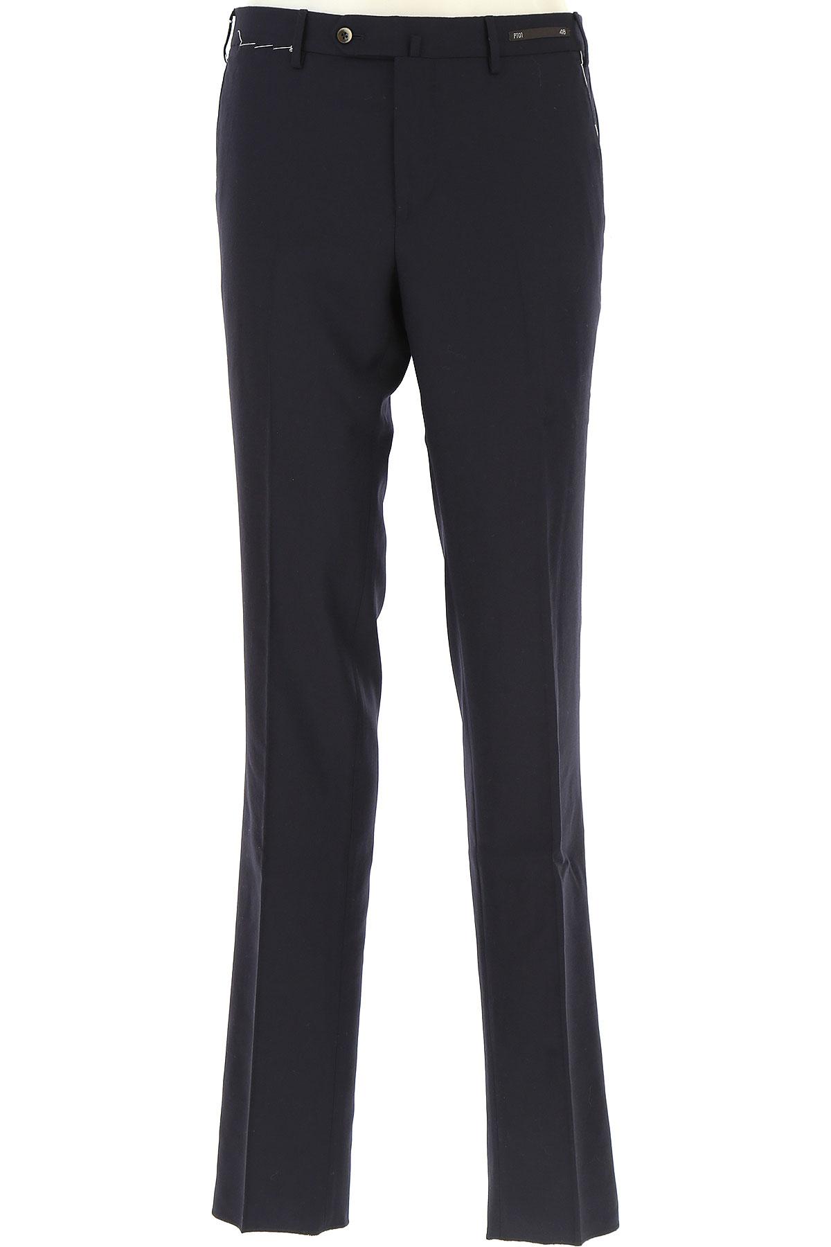 Image of PT01 Pants for Men, Black, Wool, 2017, 30 32 34 36 38 40