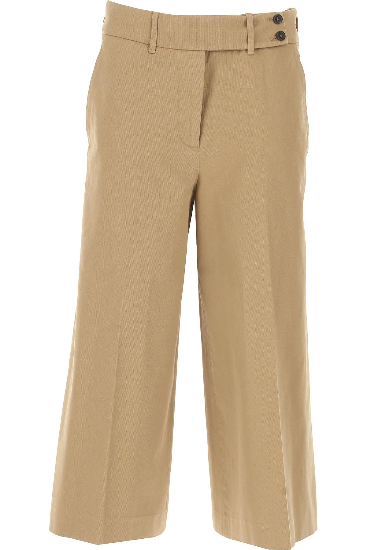 PT01 Pants for Women On Sale, Camel, Cotton, 2017, 26 27 28 29 30 31 32 33 34