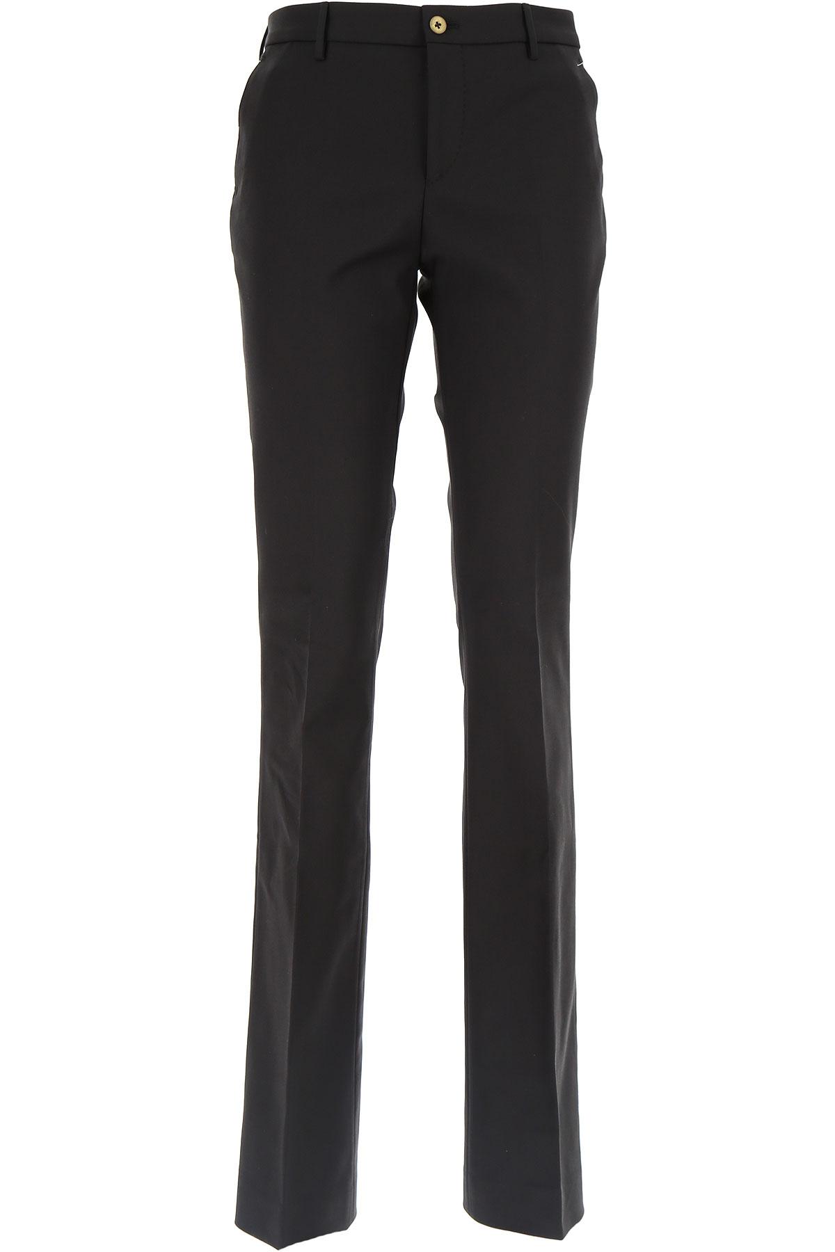 PT01 Pantalon Femme Pas cher en Soldes, Noir, Coton, 2019, 44 46