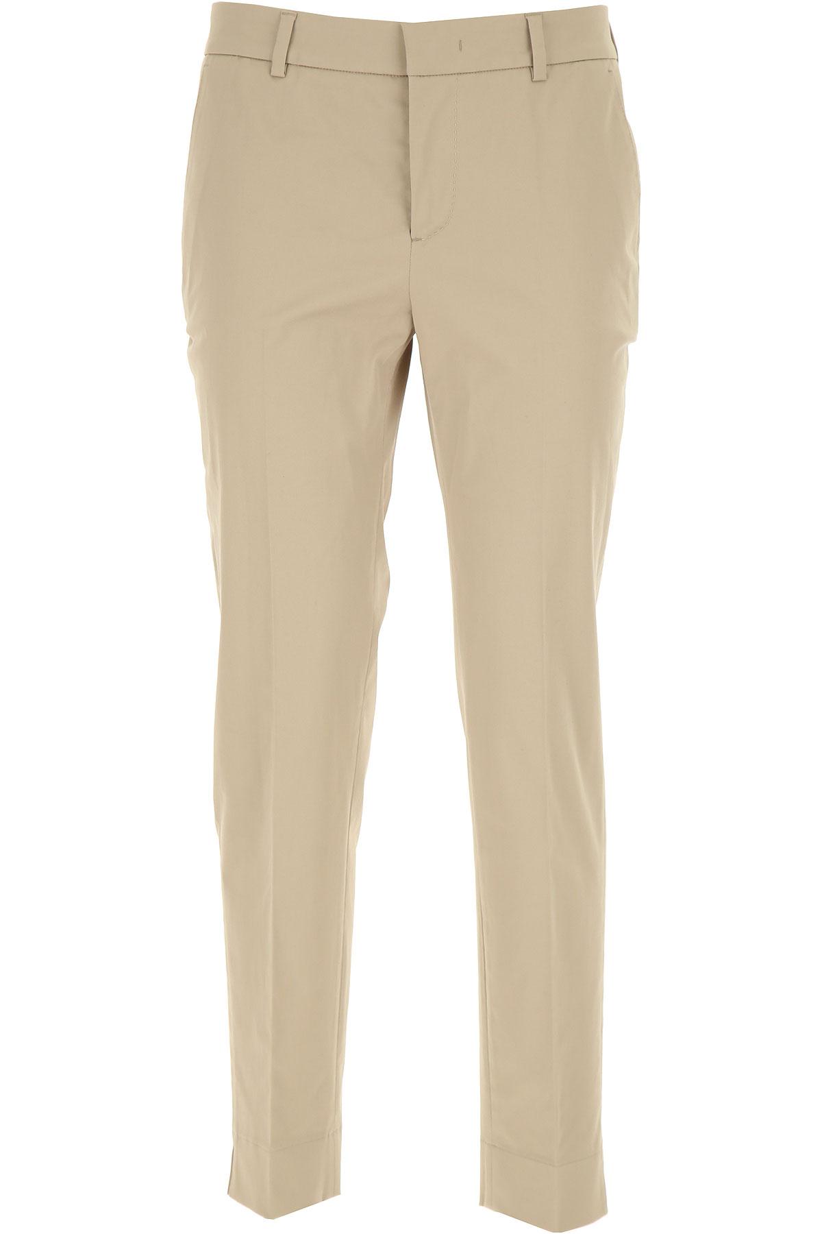 PT01 Pantalon Femme Pas cher en Soldes, Beige, Coton, 2019, 40 42 46