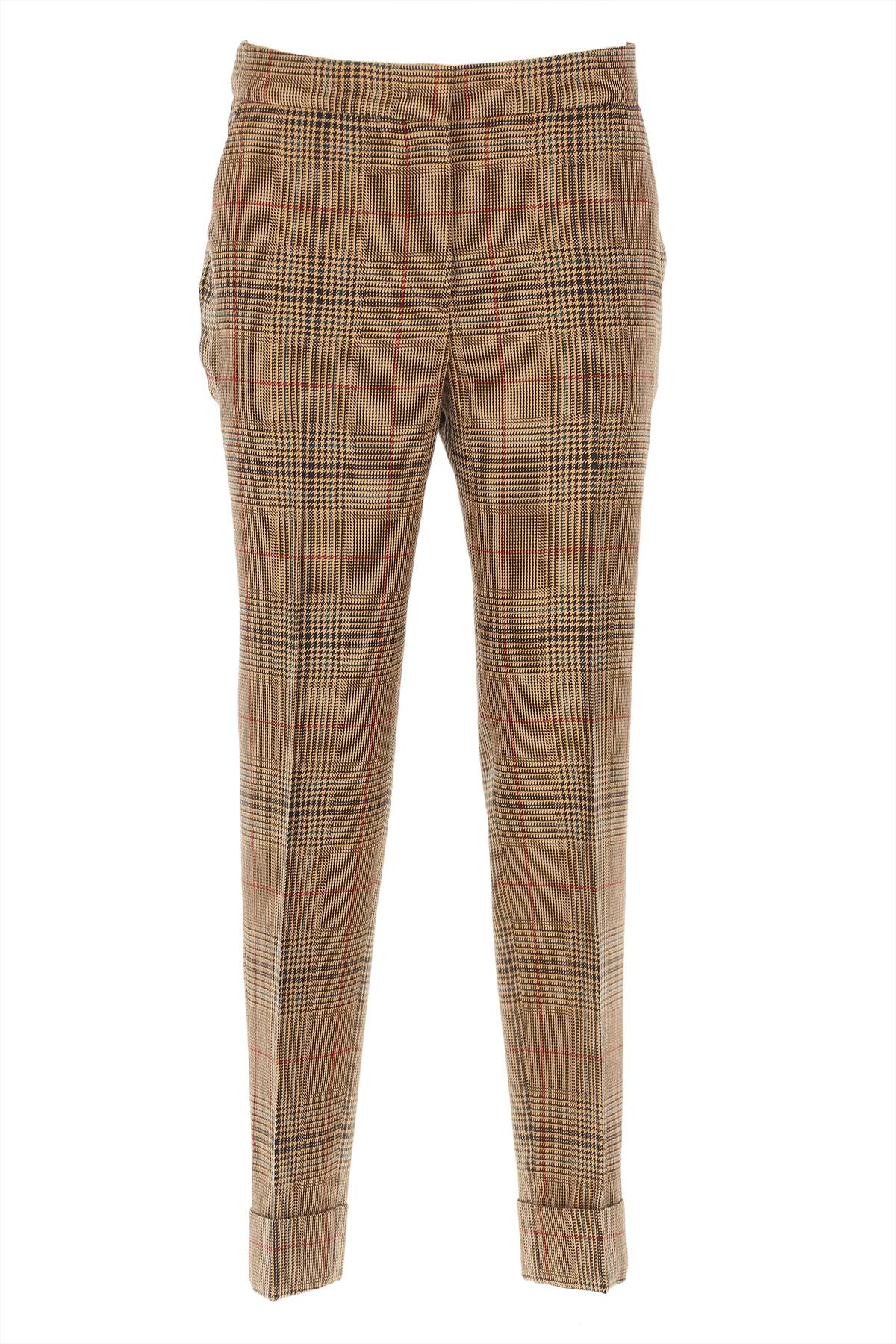 PT01 Pants for Women On Sale, Brown, Virgin wool, 2019, 26 28 30 32 34