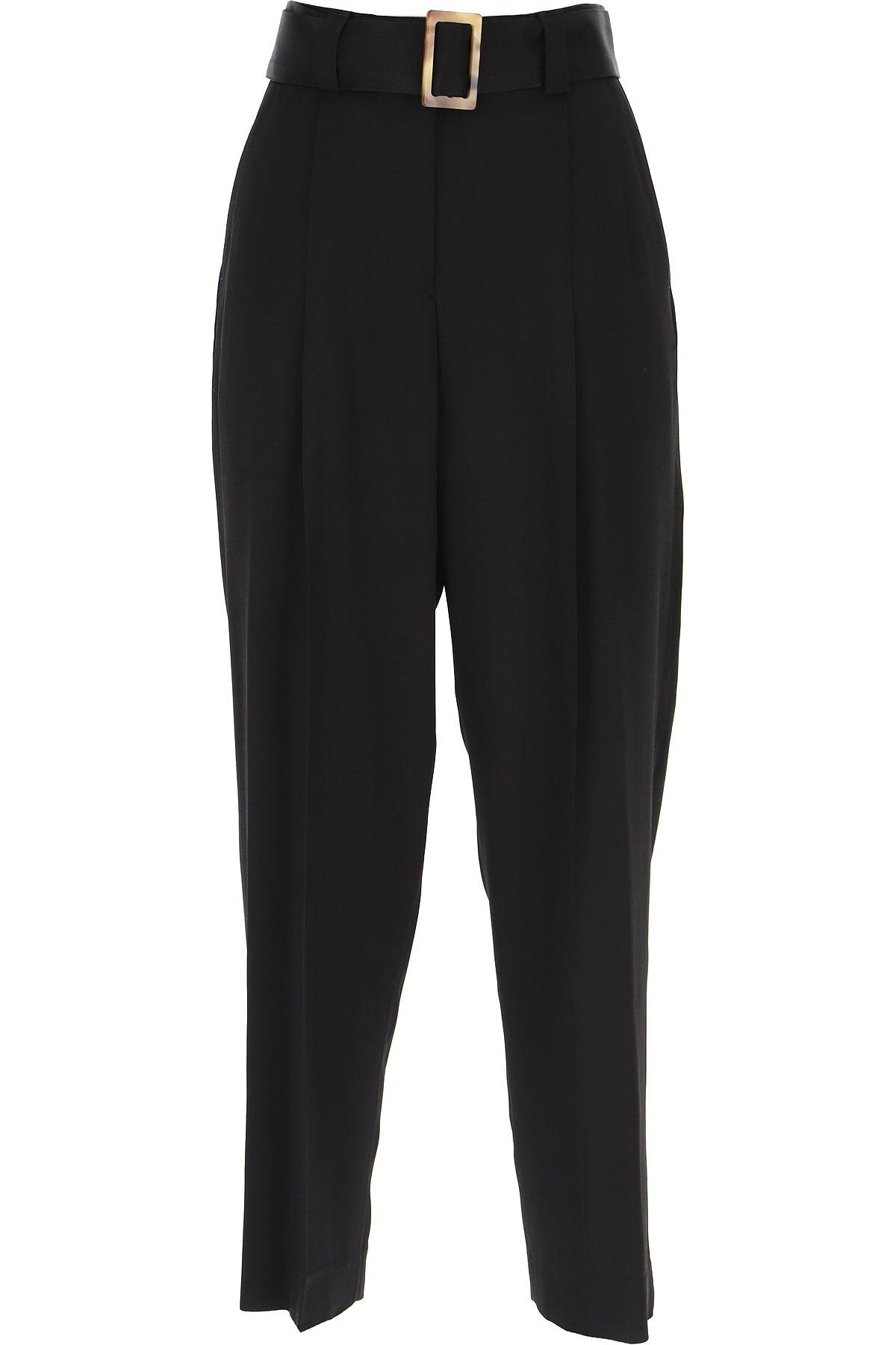 PT01 Pants for Women On Sale, Black, Viscose, 2019, 26 28 30 32