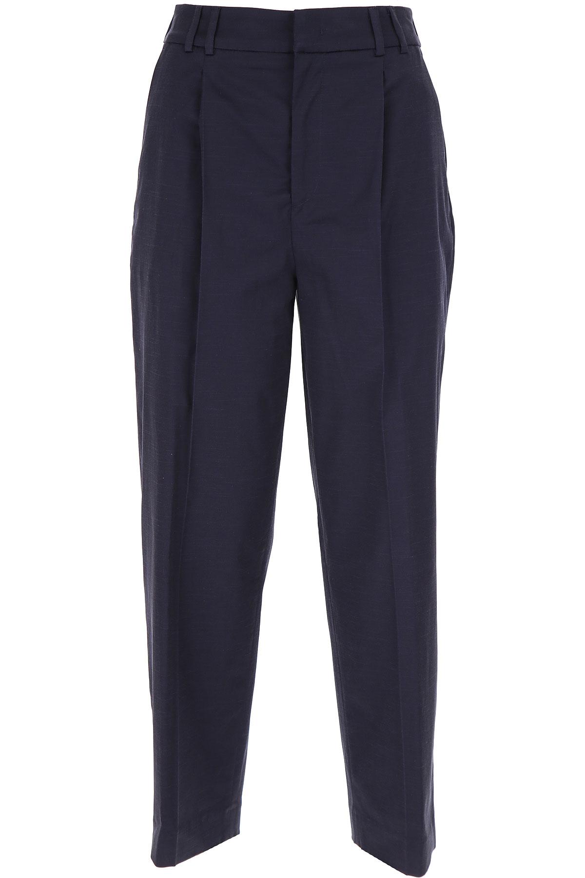 PT01 Pants for Women On Sale, Midnight Blue, Cotton, 2019, 26 28 30