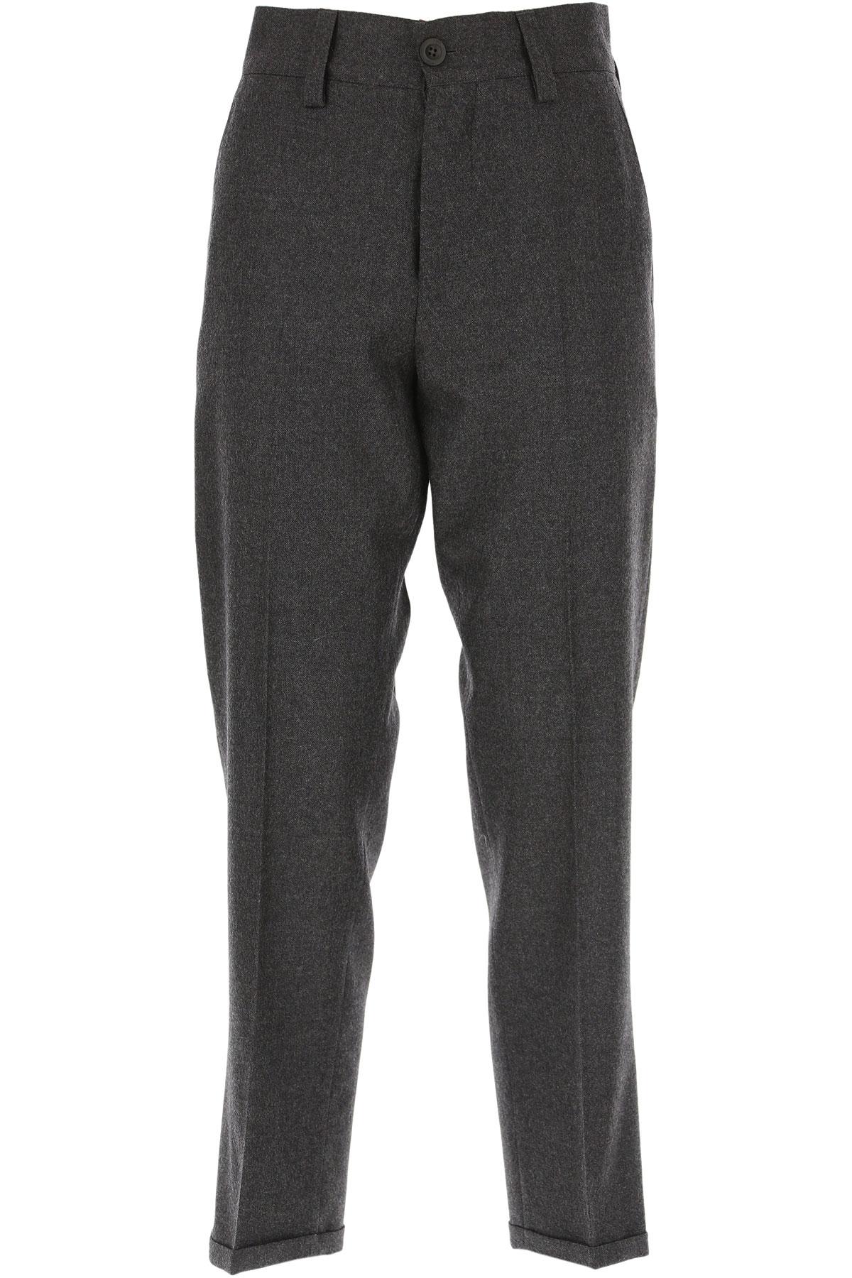 PT01 Pants for Women On Sale, Grey, Virgin wool, 2019, 26 28 32