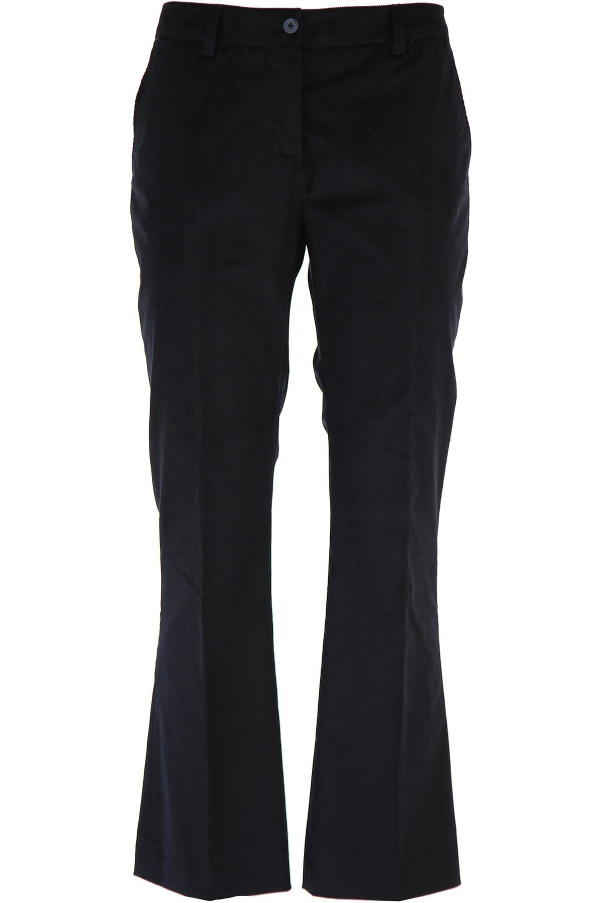 PT01 Pants for Women On Sale, Black, Cotton, 2019, 26 28 30 32