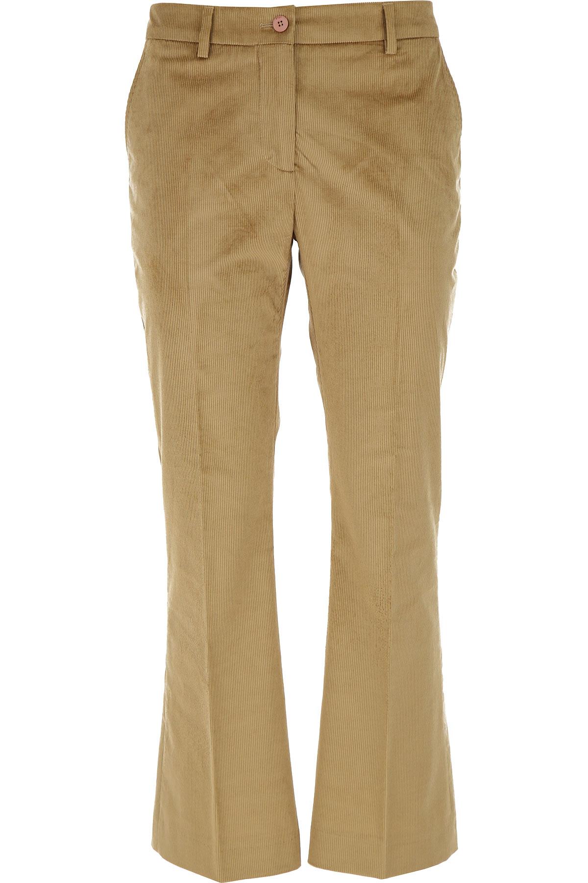 PT01 Pants for Women On Sale, Camel, Cotton, 2019, 26 28 30