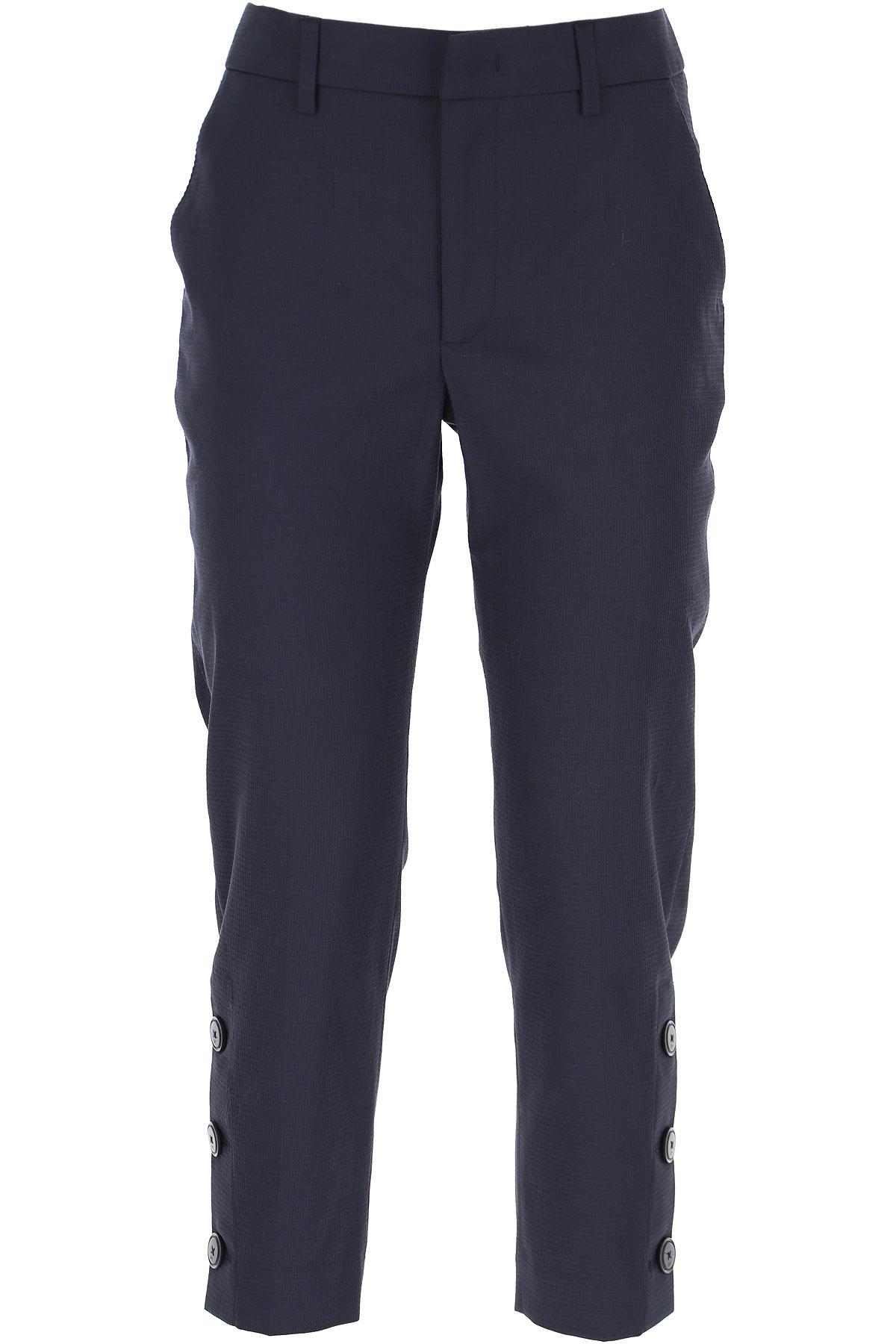 PT01 Pants for Women On Sale, Blue, Cotton, 2019, 26 28 30