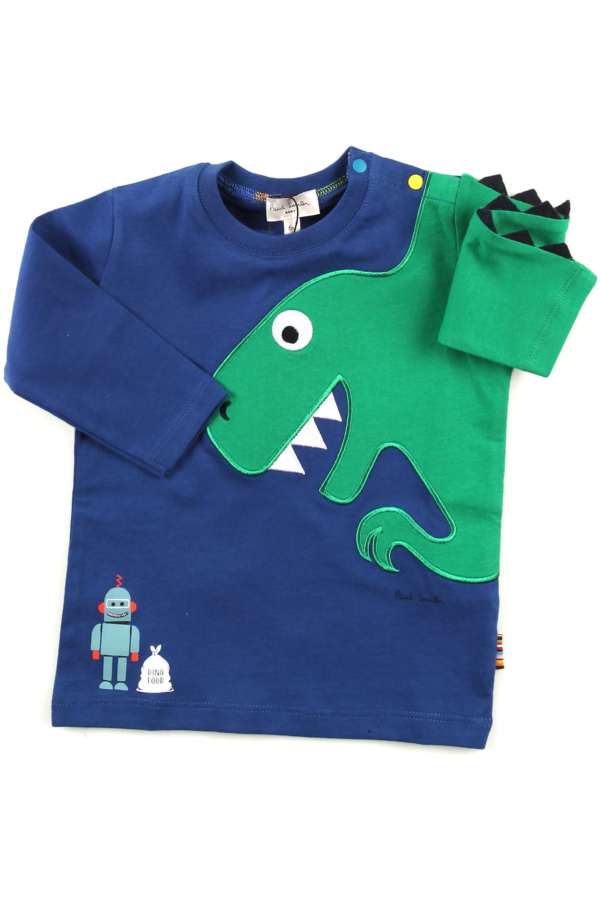 Image of Paul Smith Baby T-Shirt for Boys, Blue, Cotton, 2017, 12M 18M 2Y 3Y 6M 9M