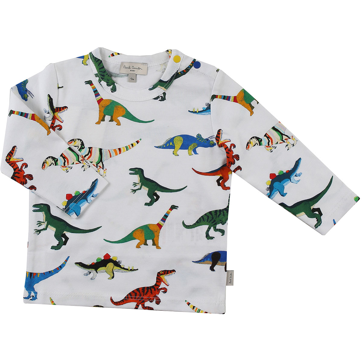 Image of Paul Smith Baby T-Shirt for Boys, White, Cotton, 2017, 12M 18M 2Y 3Y 6M 9M