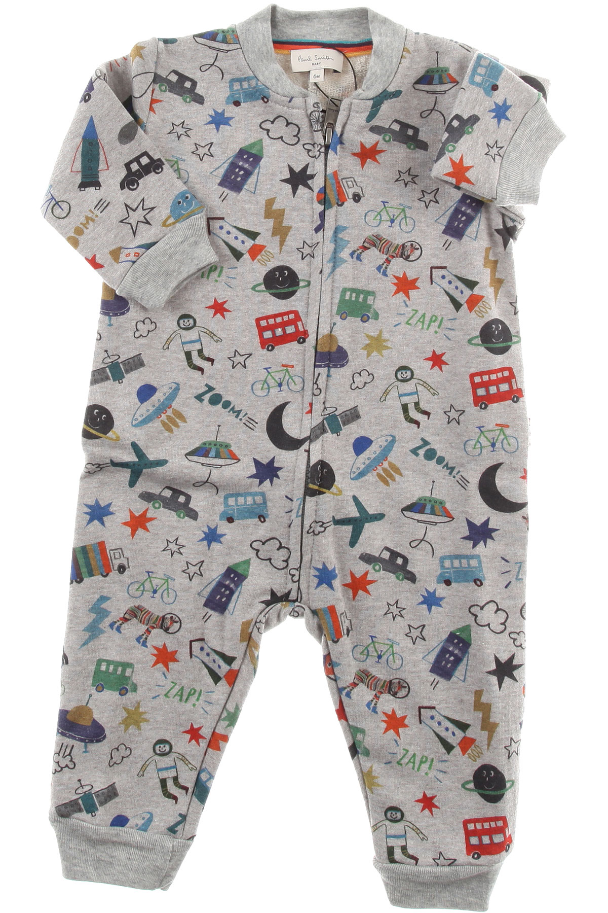 Image of Paul Smith Baby Bodysuits & Onesies for Boys, Grey, Cotton, 2017, 3M 6M 9M