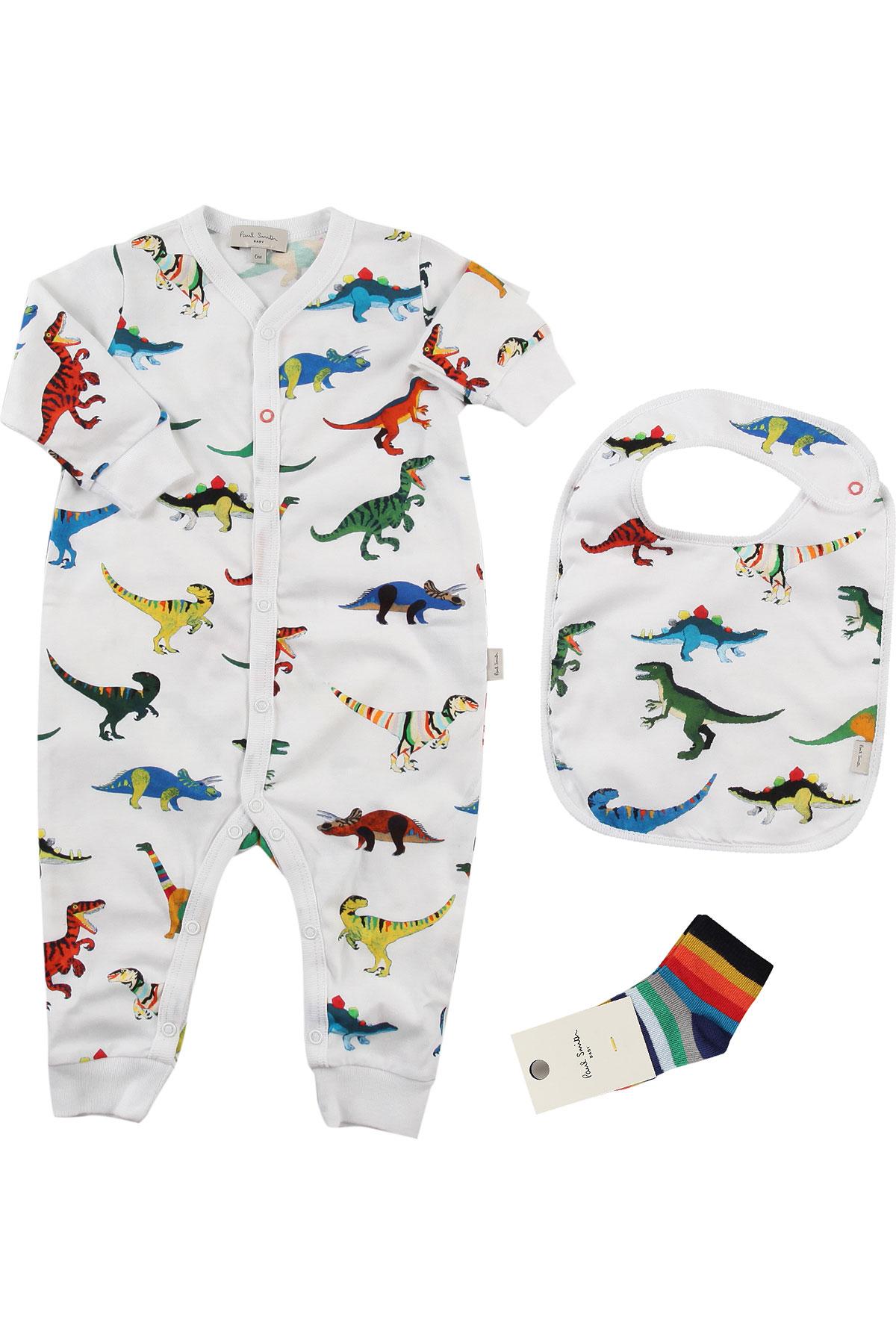 Image of Paul Smith Baby Sets for Boys, White, Cotton, 2017, 3M 6M 9M
