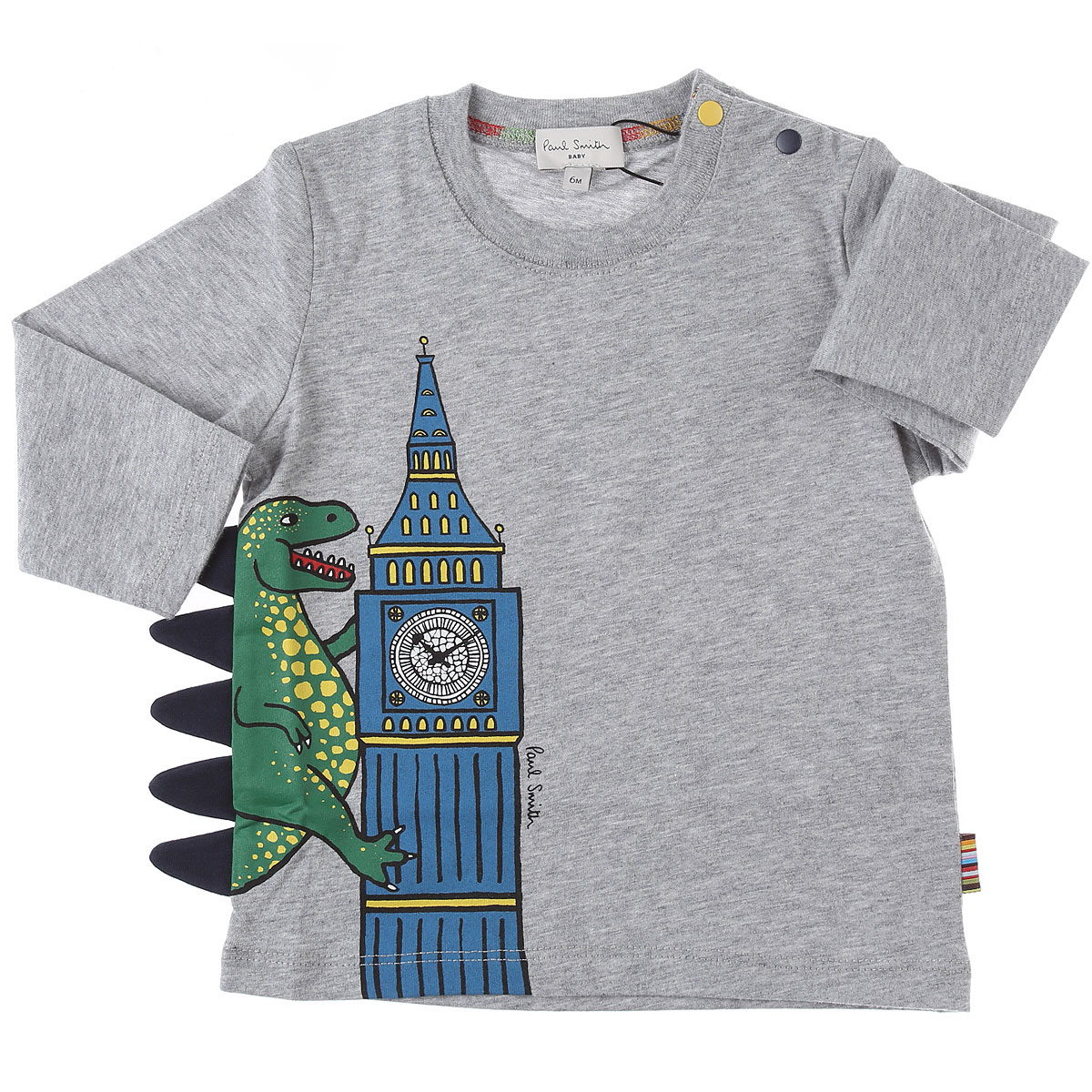 Paul Smith Baby T-Shirt for Boys On Sale, Grey, Cotton, 2019, 12 M 18M 2Y 3Y 6M 9M