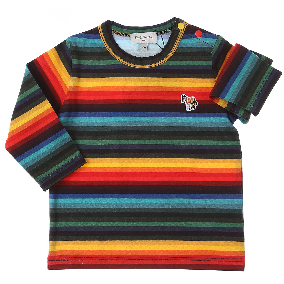 Paul Smith Baby T-Shirt for Boys On Sale, Multicolor, Cotton, 2019, 12 M 18M 2Y 3Y 6M 9M