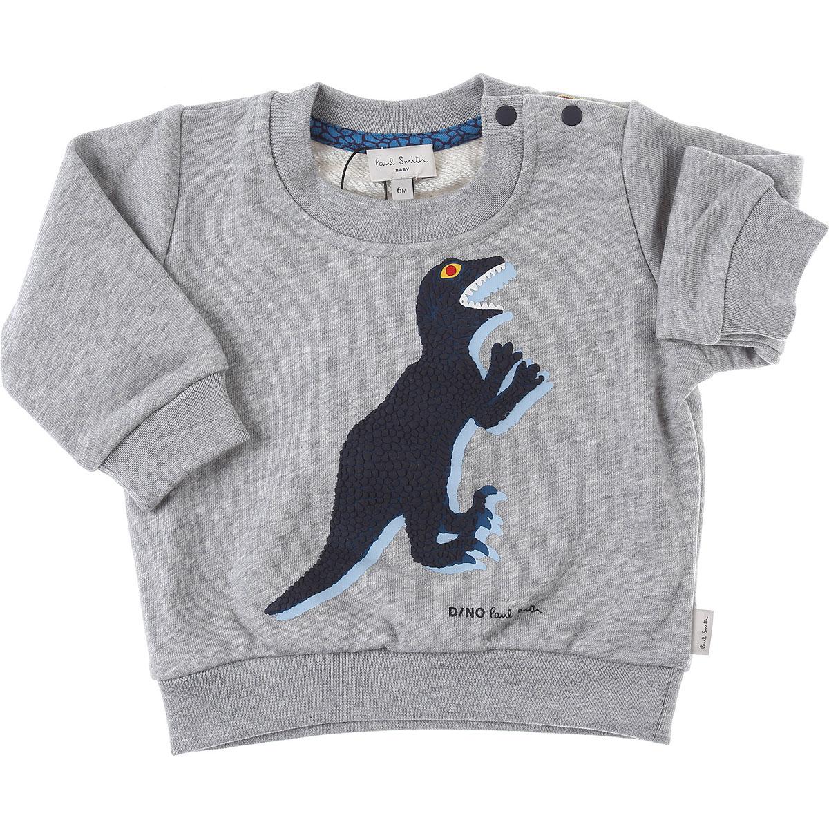 Paul Smith Baby Sweatshirts & Hoodies for Boys On Sale, Grey, Cotton, 2019, 12 M 18M 2Y 3Y 6M 9M