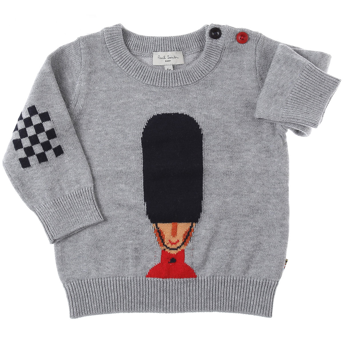 Paul Smith Baby Sweaters for Boys On Sale, Grey, Cotton, 2019, 12 M 18M 2Y 3Y 6M 9M