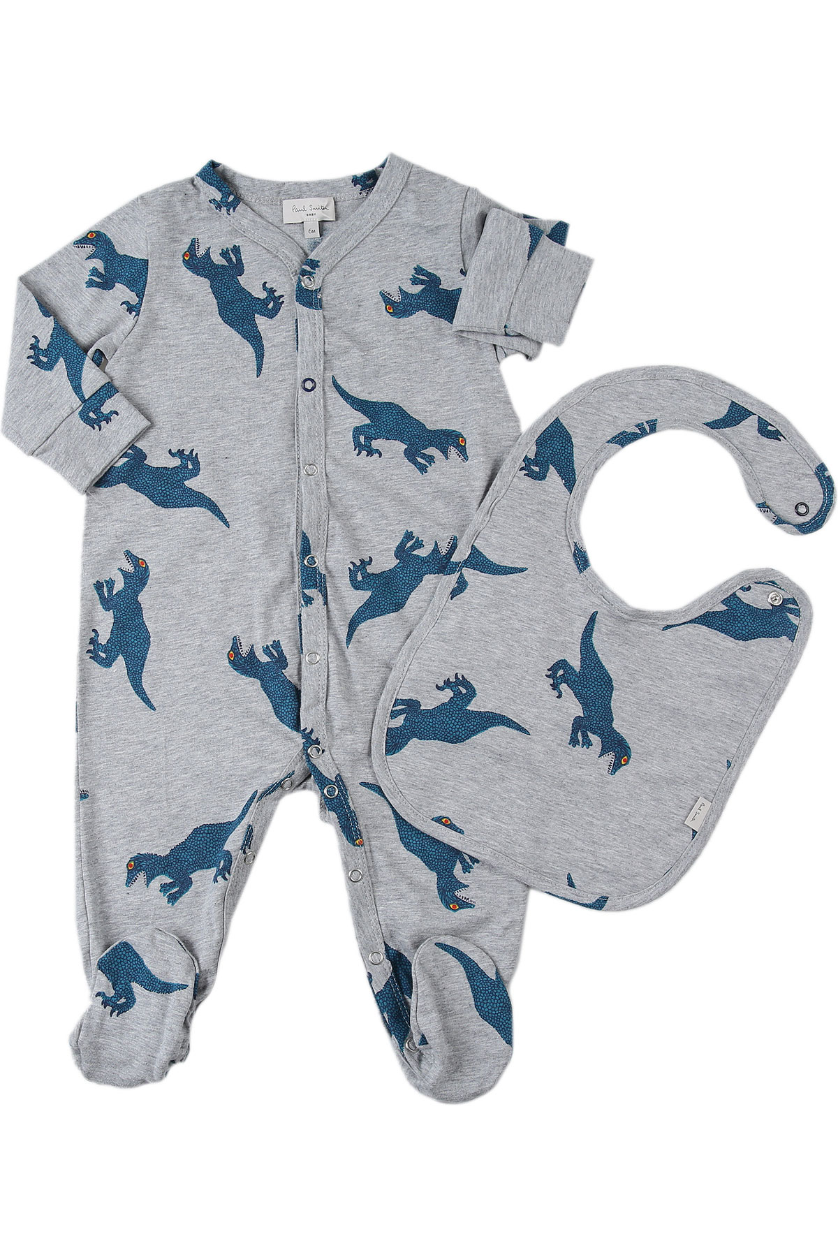 Paul Smith Baby Bodysuits & Onesies for Boys On Sale, Marl Grey, Cotton, 2019, 1M 3M 6M 9M