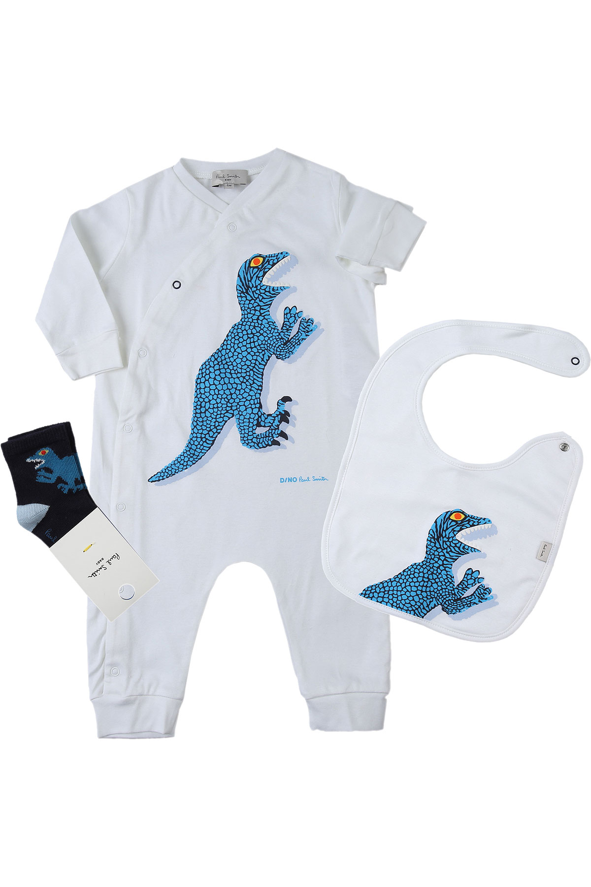 Paul Smith Baby Bodysuits & Onesies for Boys On Sale, White, Cotton, 2019, 3M 6M 9M