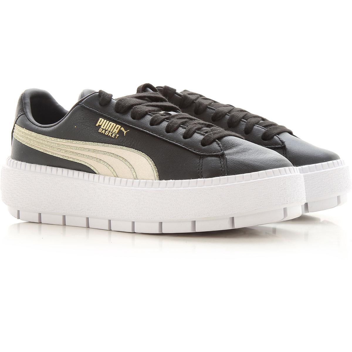 Puma Sneakers for Women On Sale in Outlet, Black, Leather, 2019, US 6 5 - UK 4 - EU 37 - JP 23 US 7 5 - UK 5 - EU 38 - JP 24 USA 9 - EUR 40