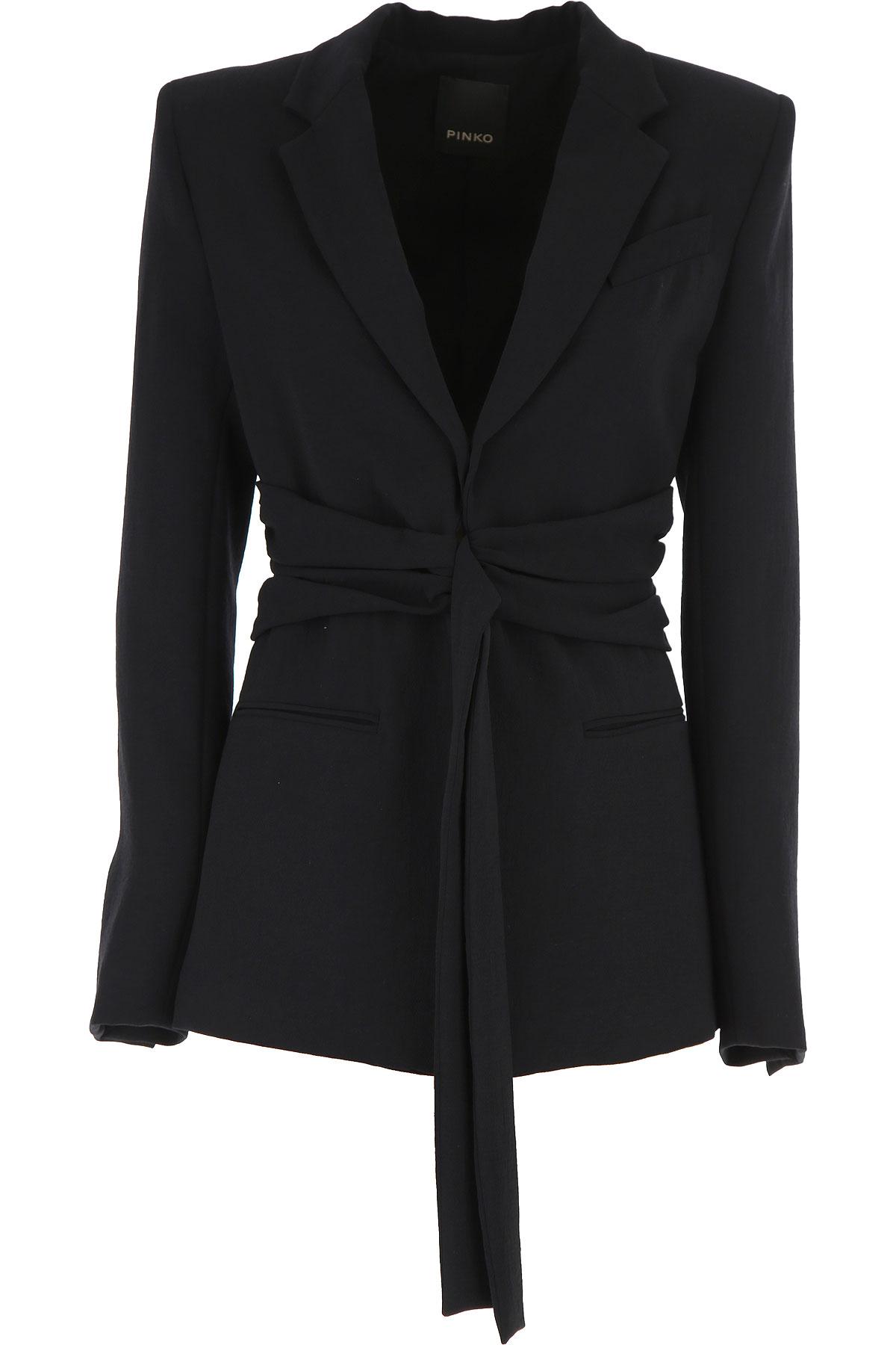 Pinko Blazer for Women On Sale, Black, polyestere, 2019, 10 8