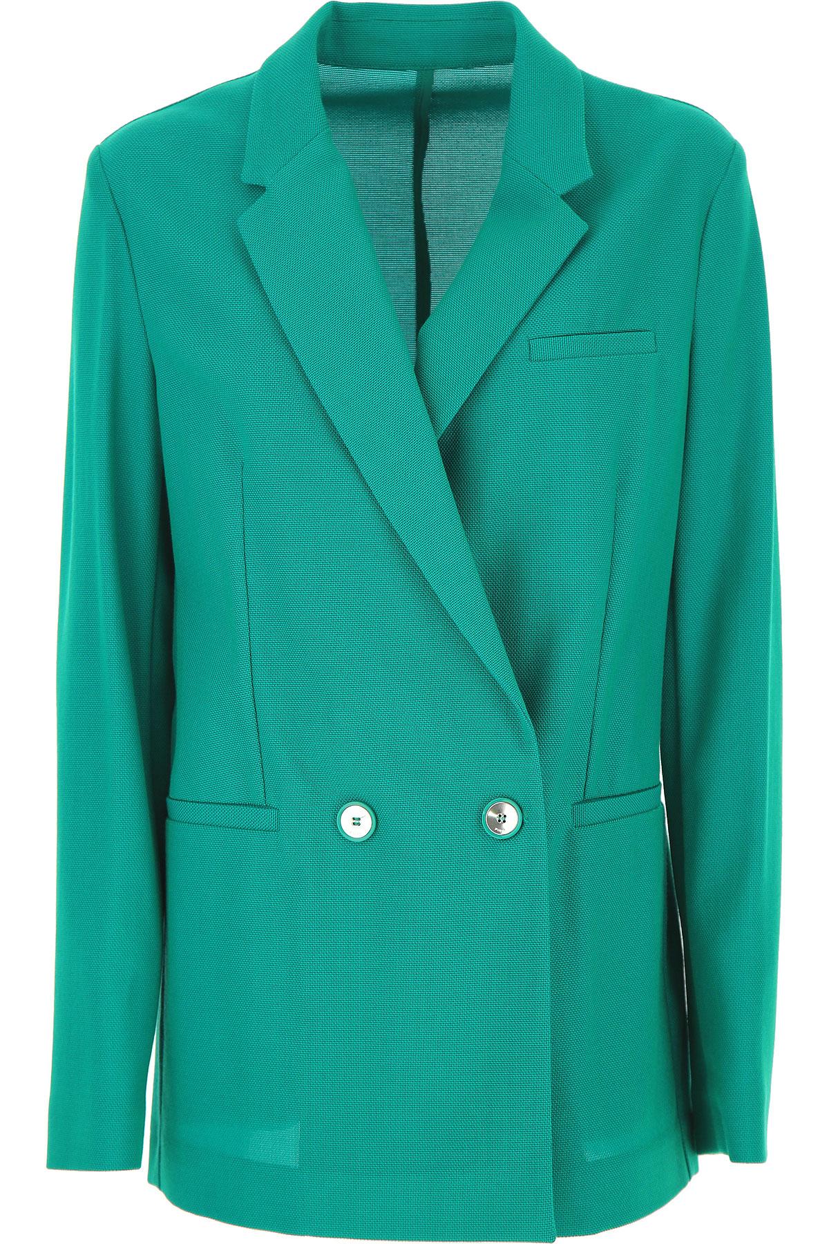 Pinko Blazer for Women On Sale, Emerald, Cotton, 2019, 6 8