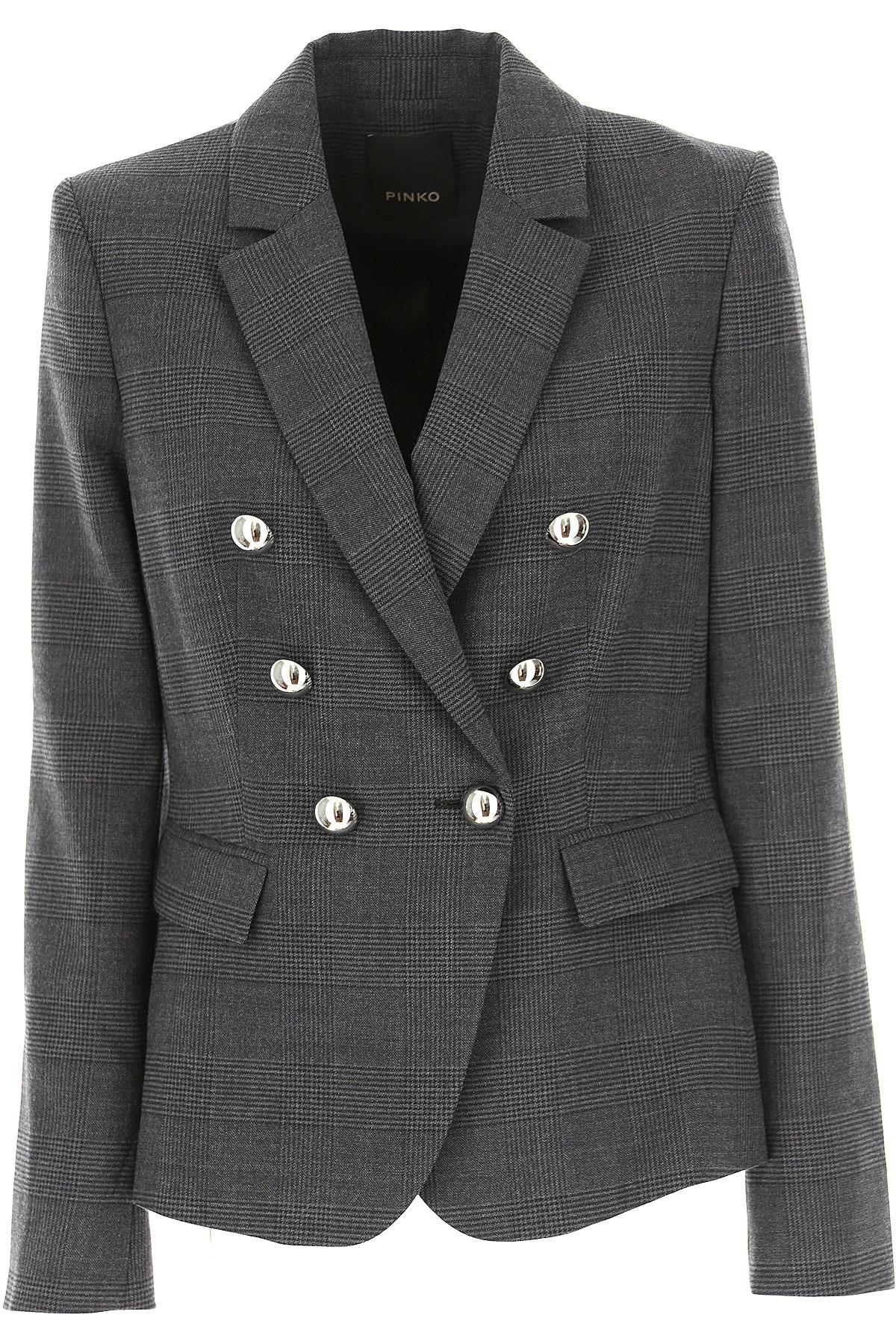 Pinko Blazer for Women On Sale, Dark Grey, polyester, 2019, 6 8