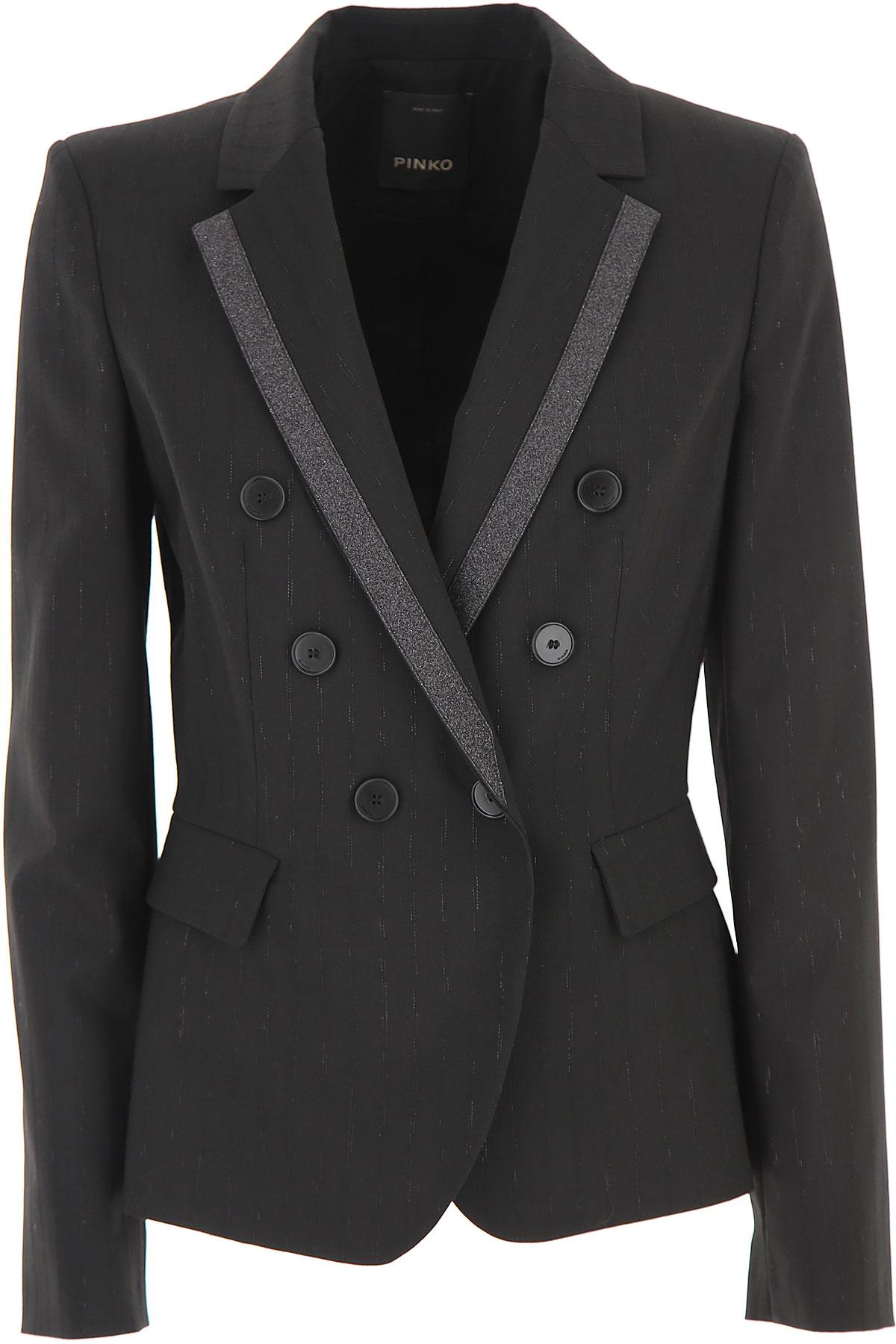 Pinko Blazer for Women On Sale, Black, polyester, 2019, 6 8