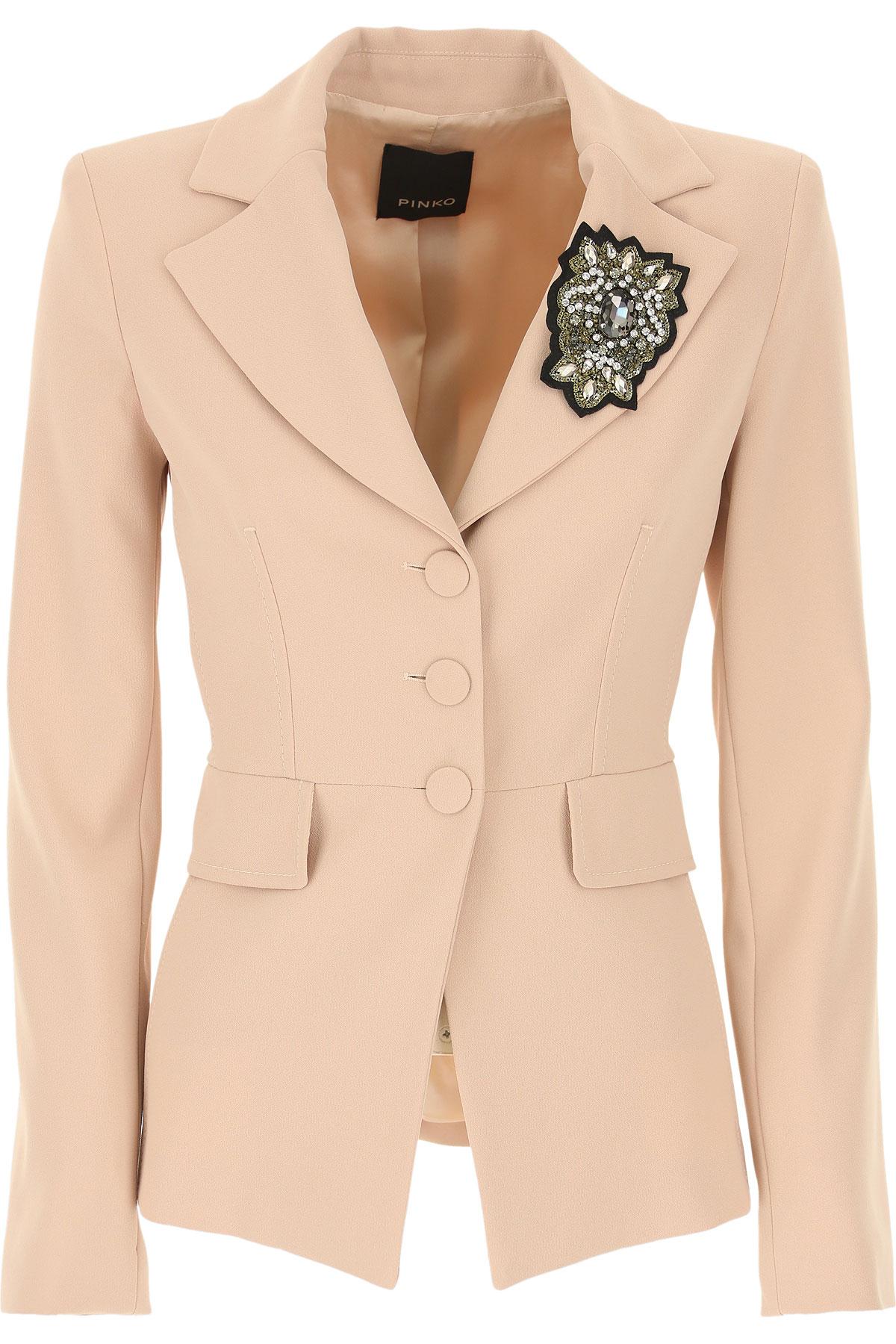Pinko Blazer for Women On Sale, Dusty Pink, polyester, 2019, 4 6 8