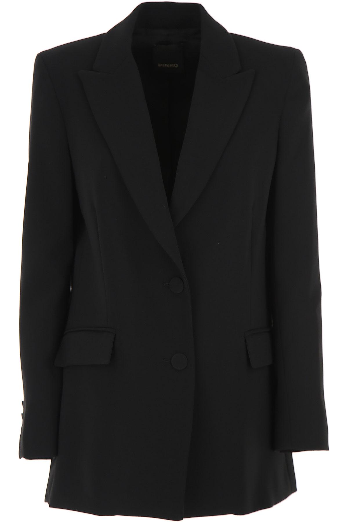 Pinko Blazer for Women On Sale, Black, polyestere, 2019, 4 6