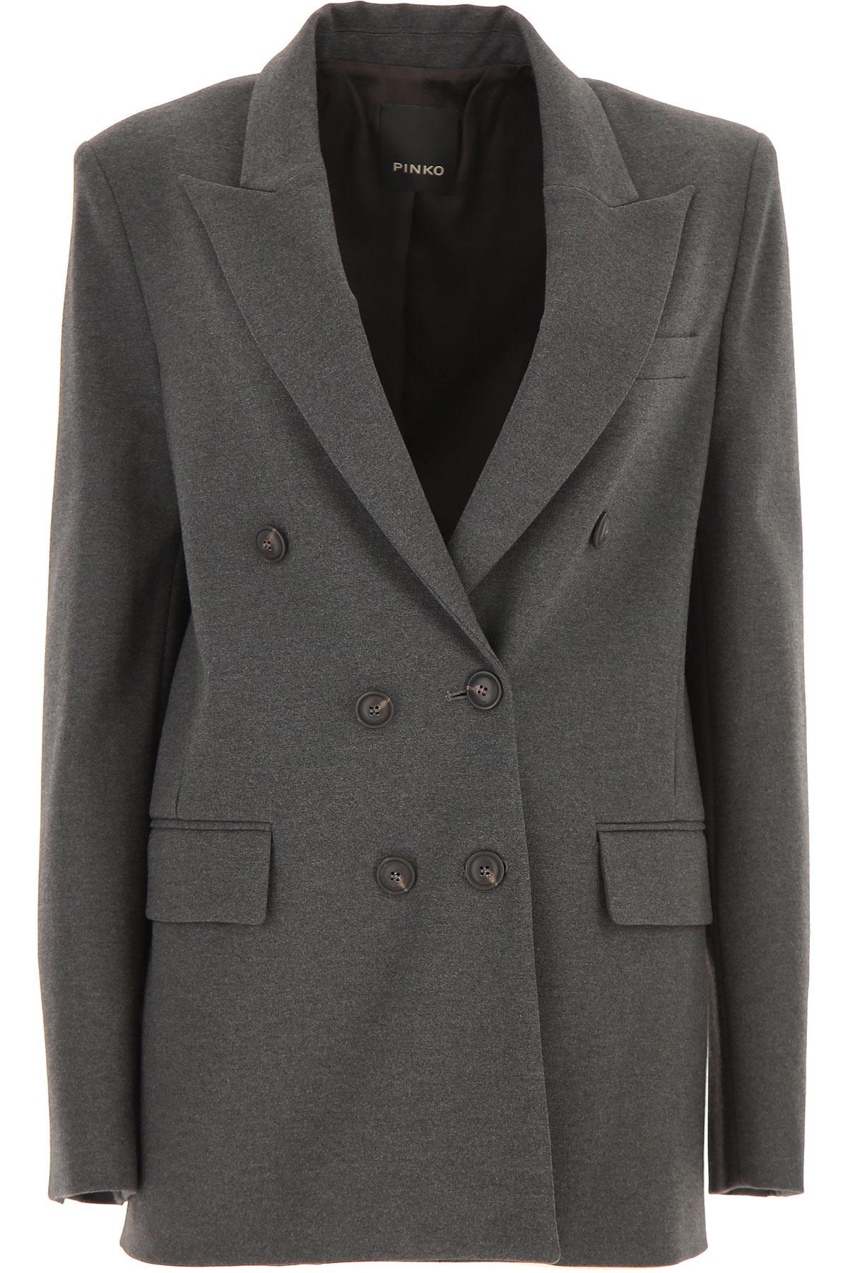 Pinko Blazer for Women On Sale, Dark Grey, Viscose, 2019, 4 6