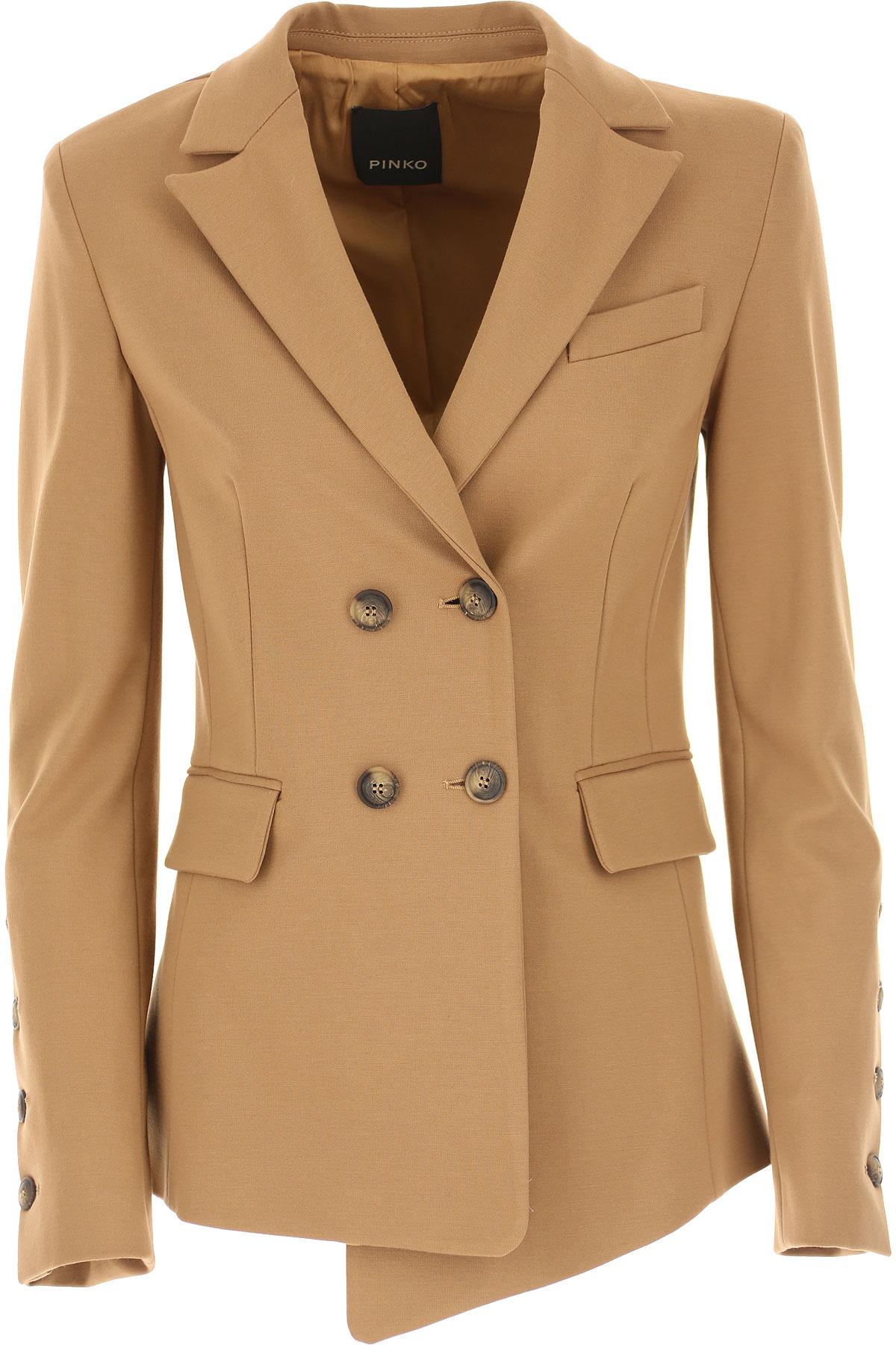 Pinko Blazer for Women On Sale, nut, Viscose, 2019, 2 4 6