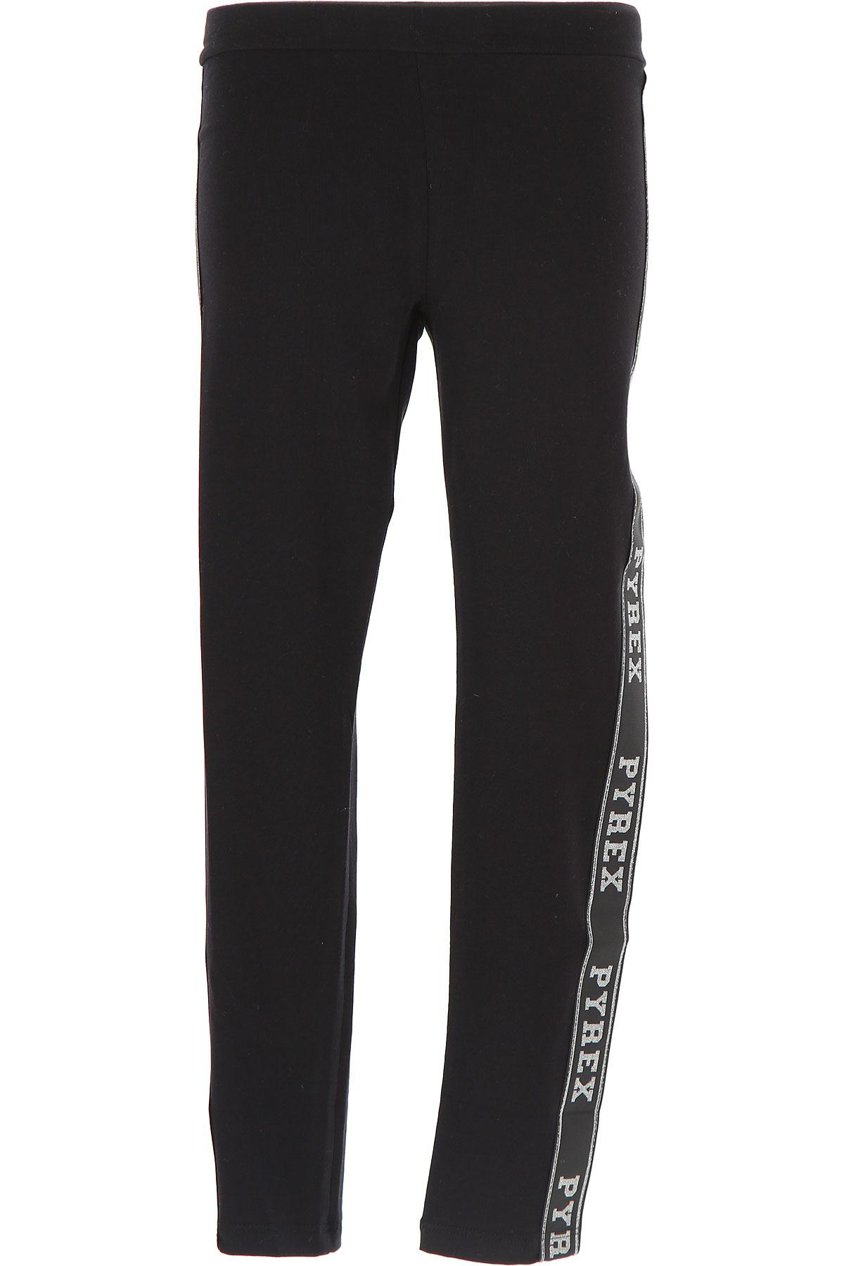 Image of Pyrex Kids Pants for Girls, Black, Cotton, 2017, XL (14 Y) XXL (16 Y) XS