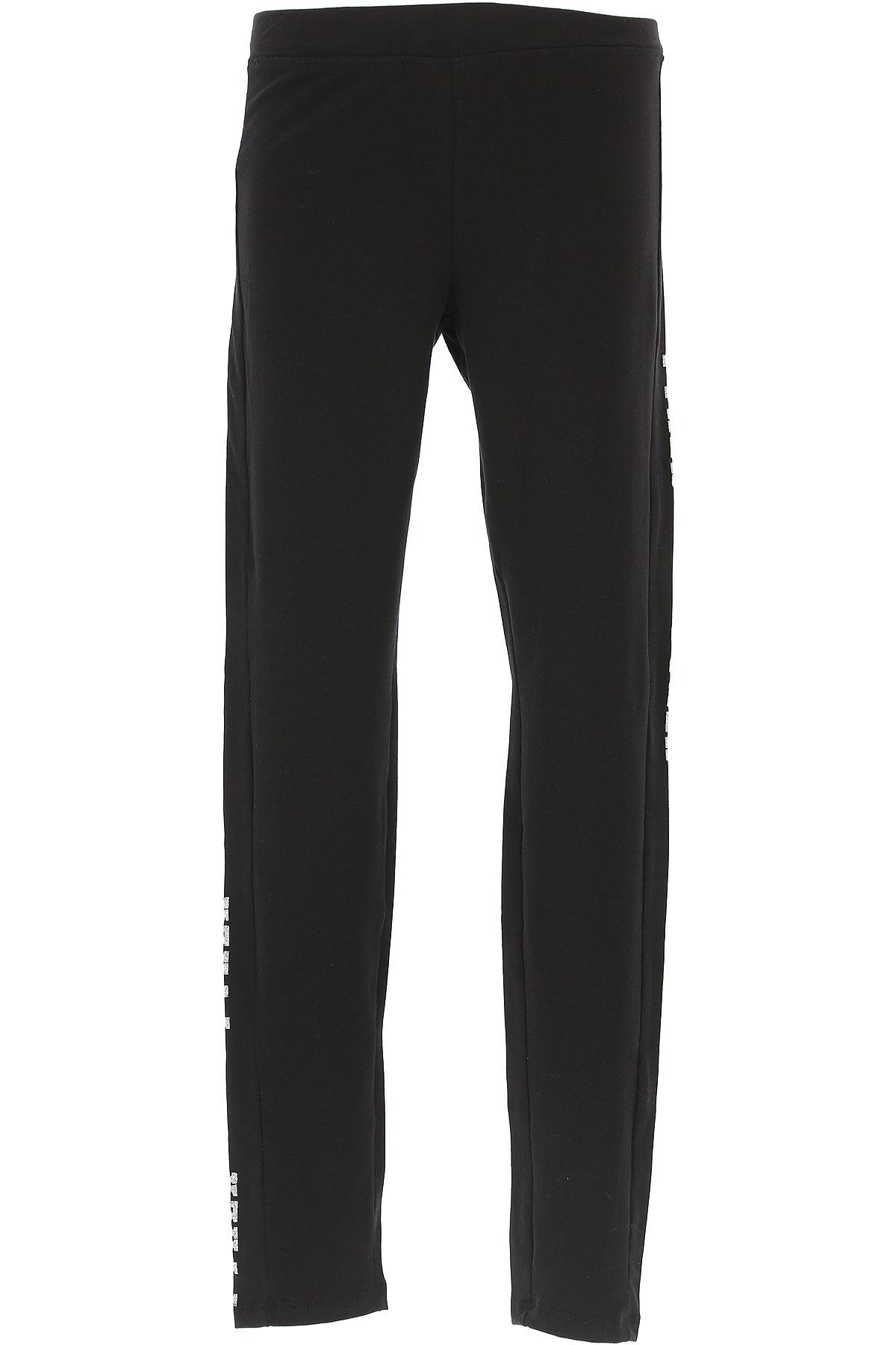 Image of Pyrex Kids Pants for Girls, Black, Cotton, 2017, S (8 Y) M (10 Y) L (12 Y) XL (14 Y) XXL (16 Y) XS