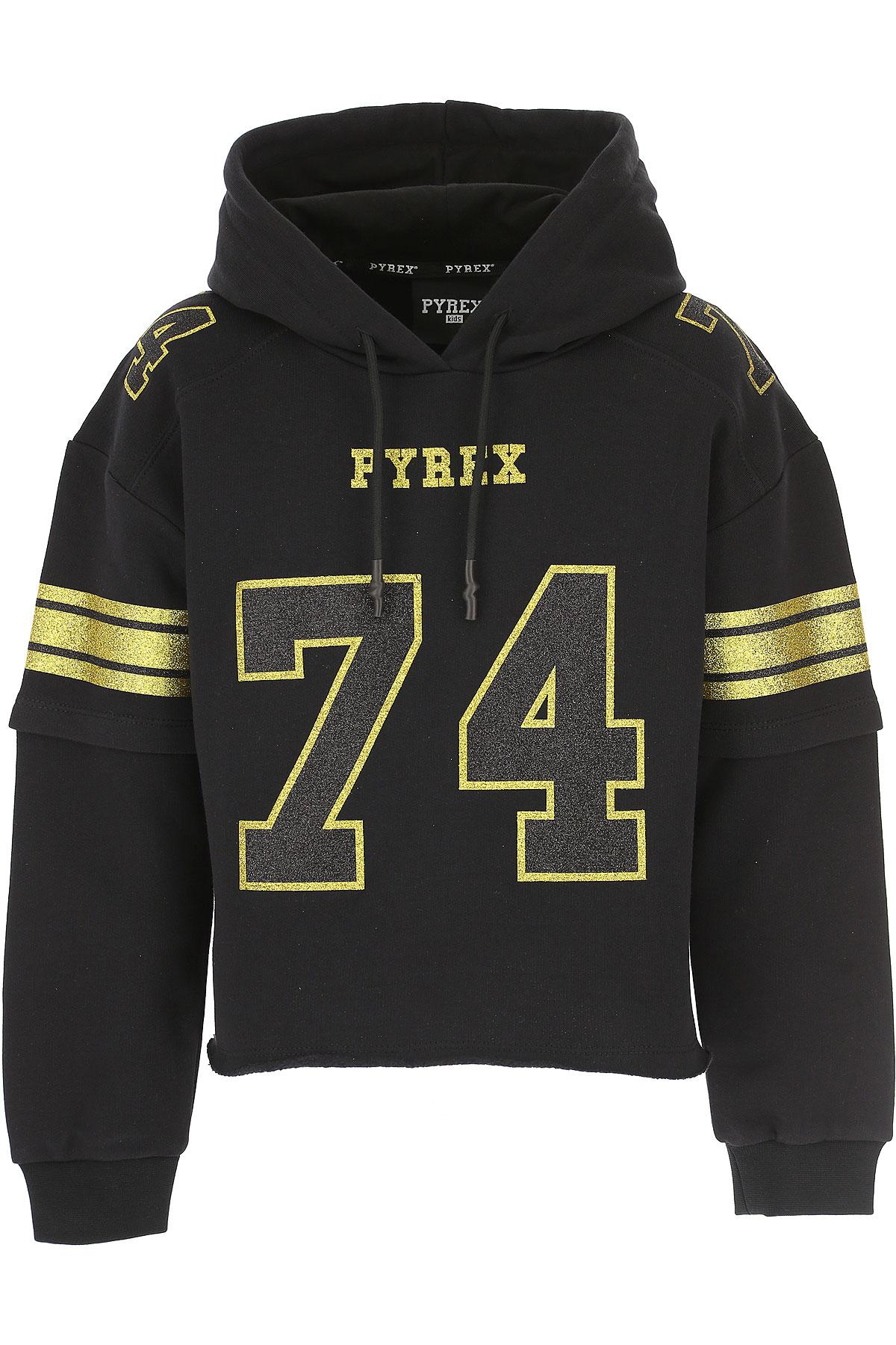 Image of Pyrex Kids Sweatshirts & Hoodies for Girls, Black, Cotton, 2017, S (8 Y) M (10 Y) L (12 Y) XL (14 Y) XXL (16 Y)