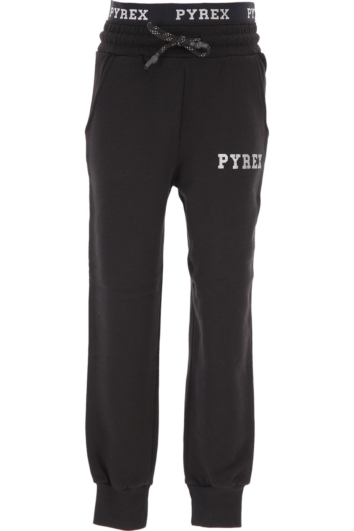 Pyrex Kids Sweatpants for Girls On Sale, Black, Cotton, 2019, S XXL