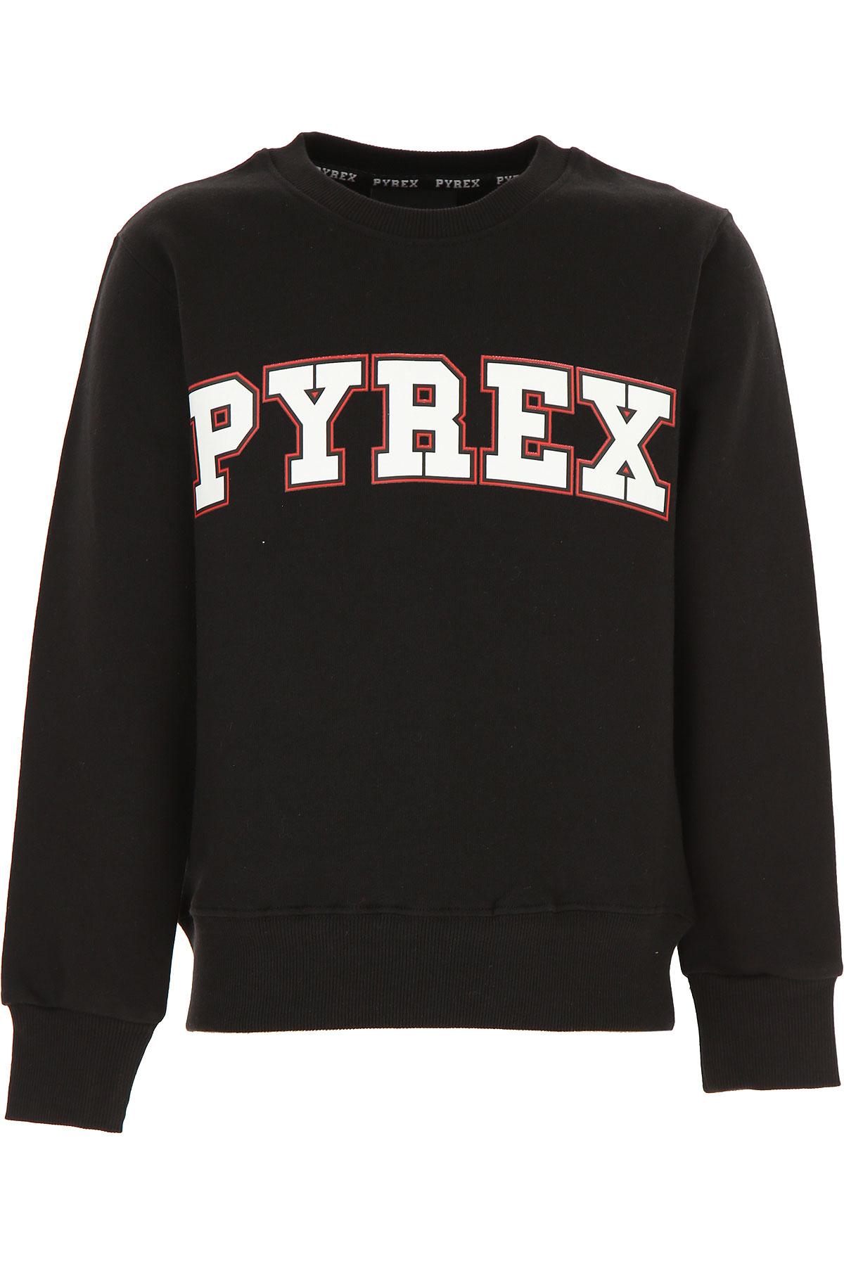 Pyrex Kids Sweatshirts & Hoodies for Boys On Sale, Black, Cotton, 2019, M XL XS XXL (16 Y)