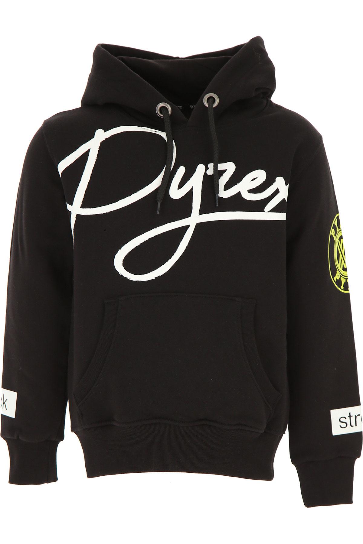 Pyrex Kids Sweatshirts & Hoodies for Boys On Sale, Black, Cotton, 2019, M S XL XS XXL (16 Y)