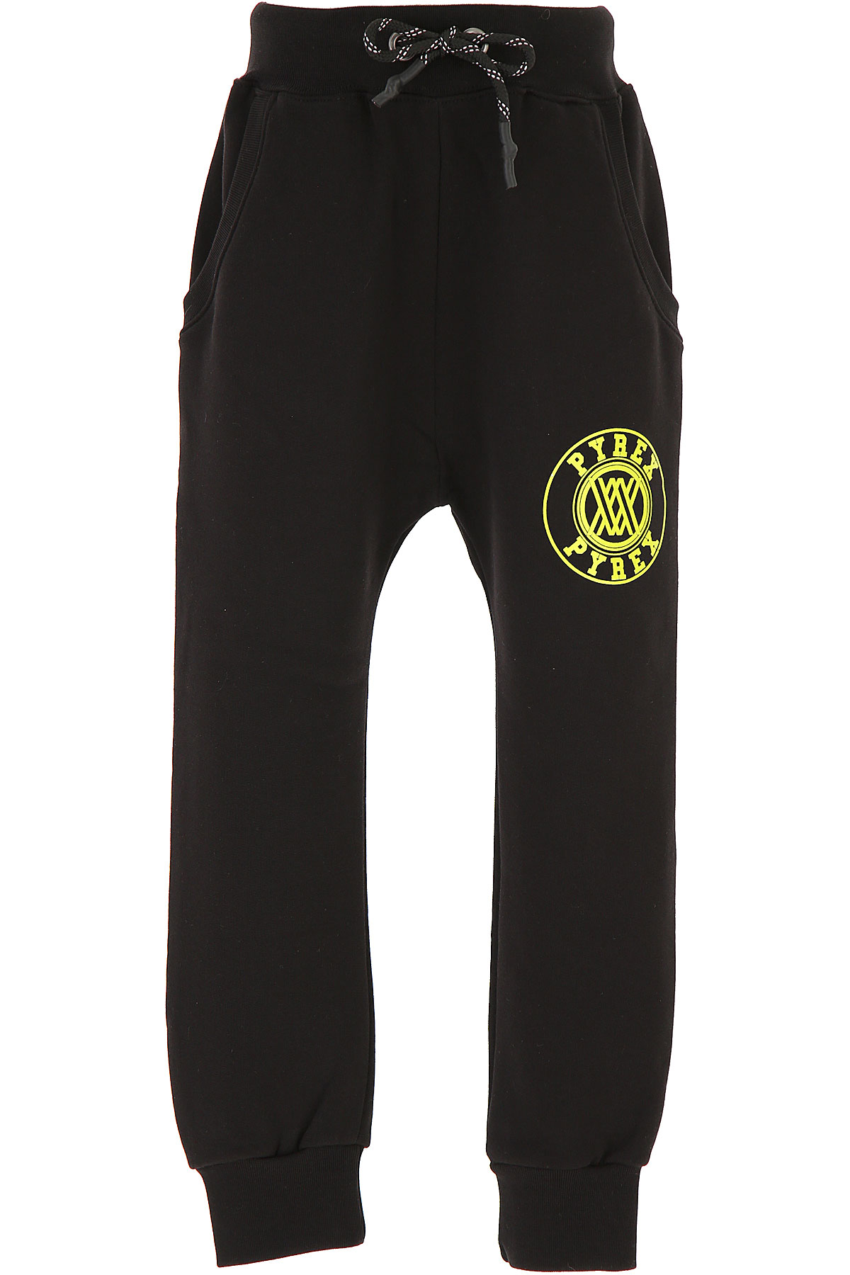 Pyrex Kids Sweatpants for Boys On Sale, Black, Cotton, 2019, M S XL XS XXL (16 Y) XXL (16 Y)